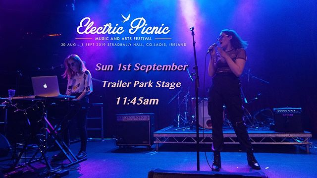 We've been dying to announce that we will be playing Electric Picnic on Sunday on the trailer park stage, hope to see you there at 11:45am!!