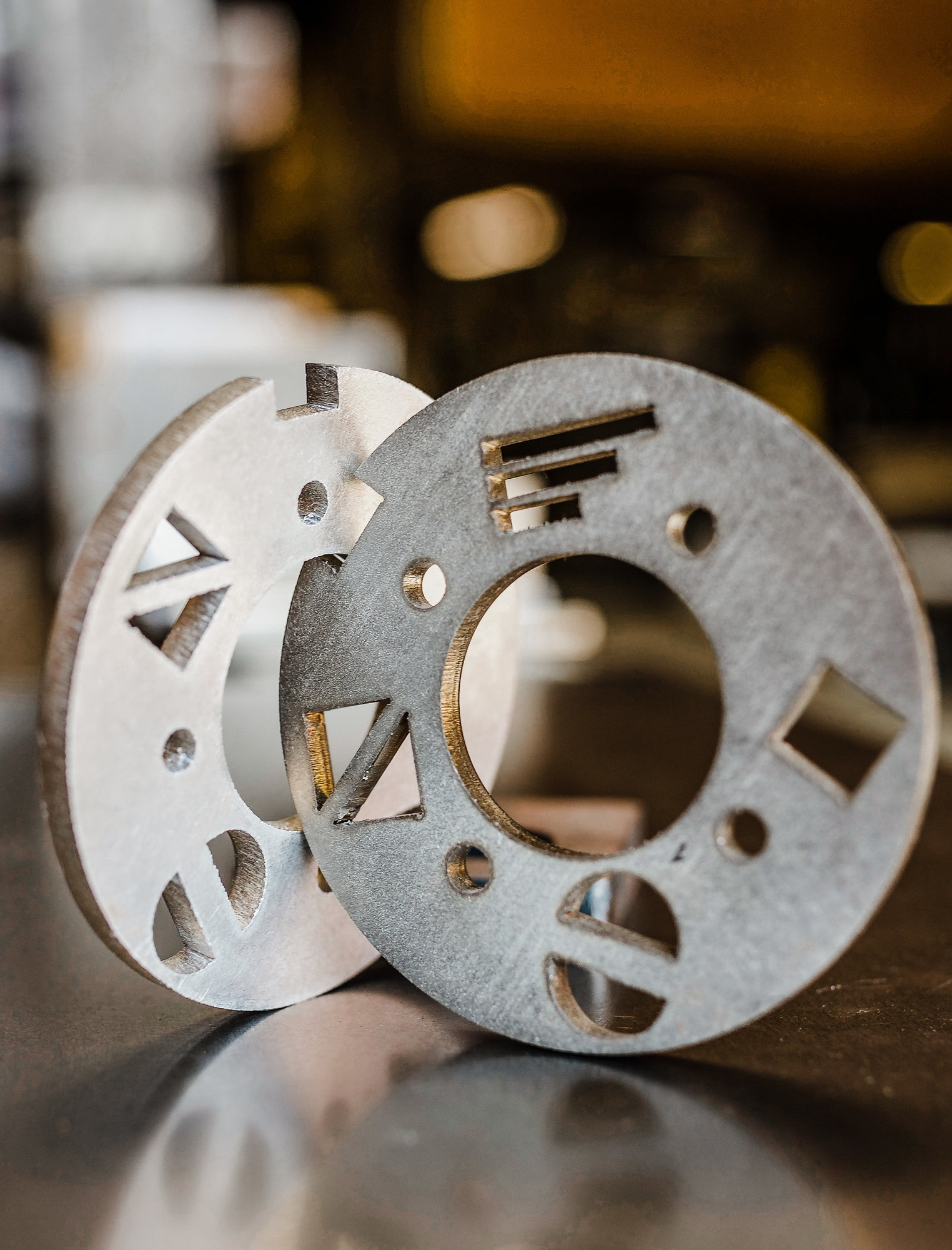 """Laser cut 0.25"""" 304 stainless steel"""