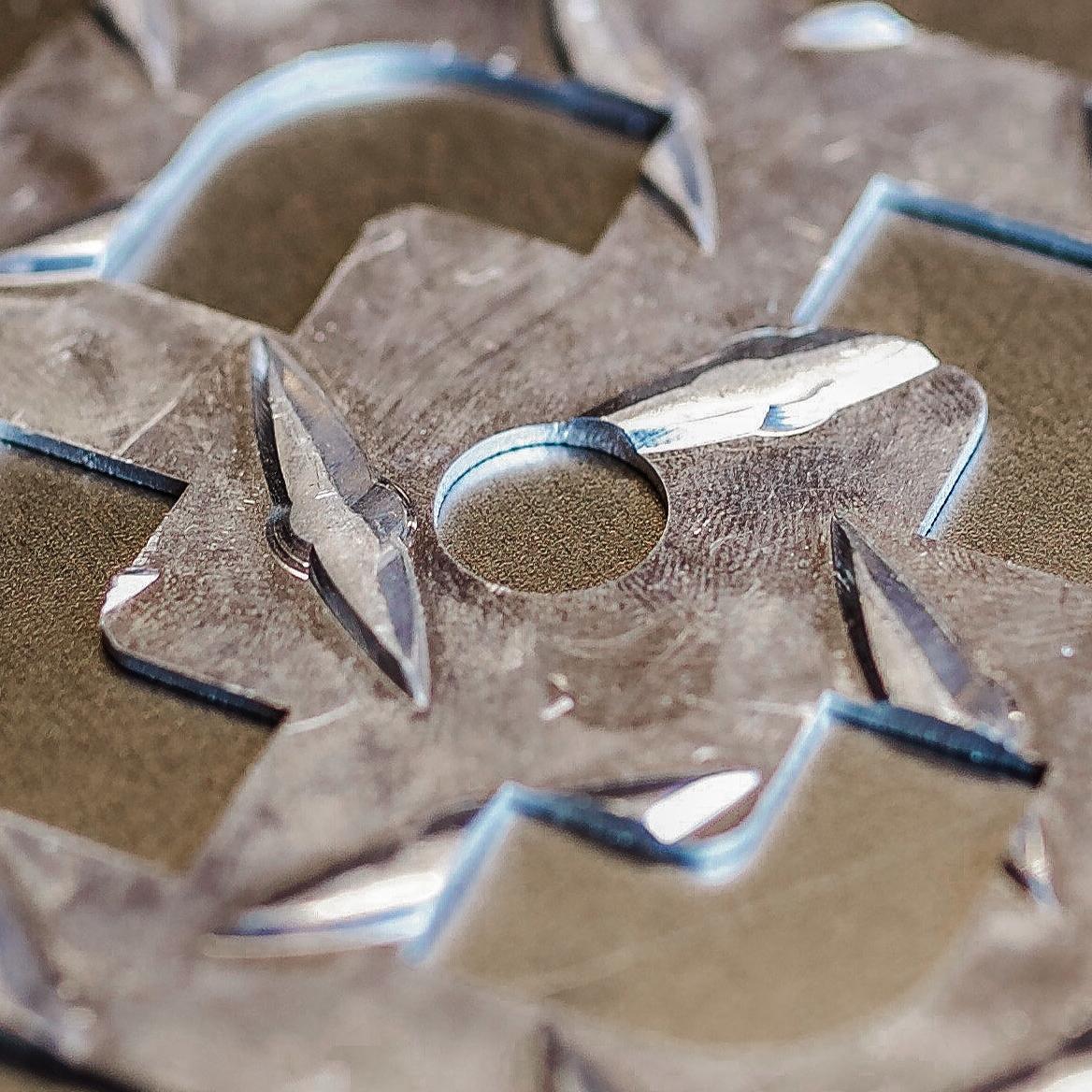 Laser cut mild steel diamond plate