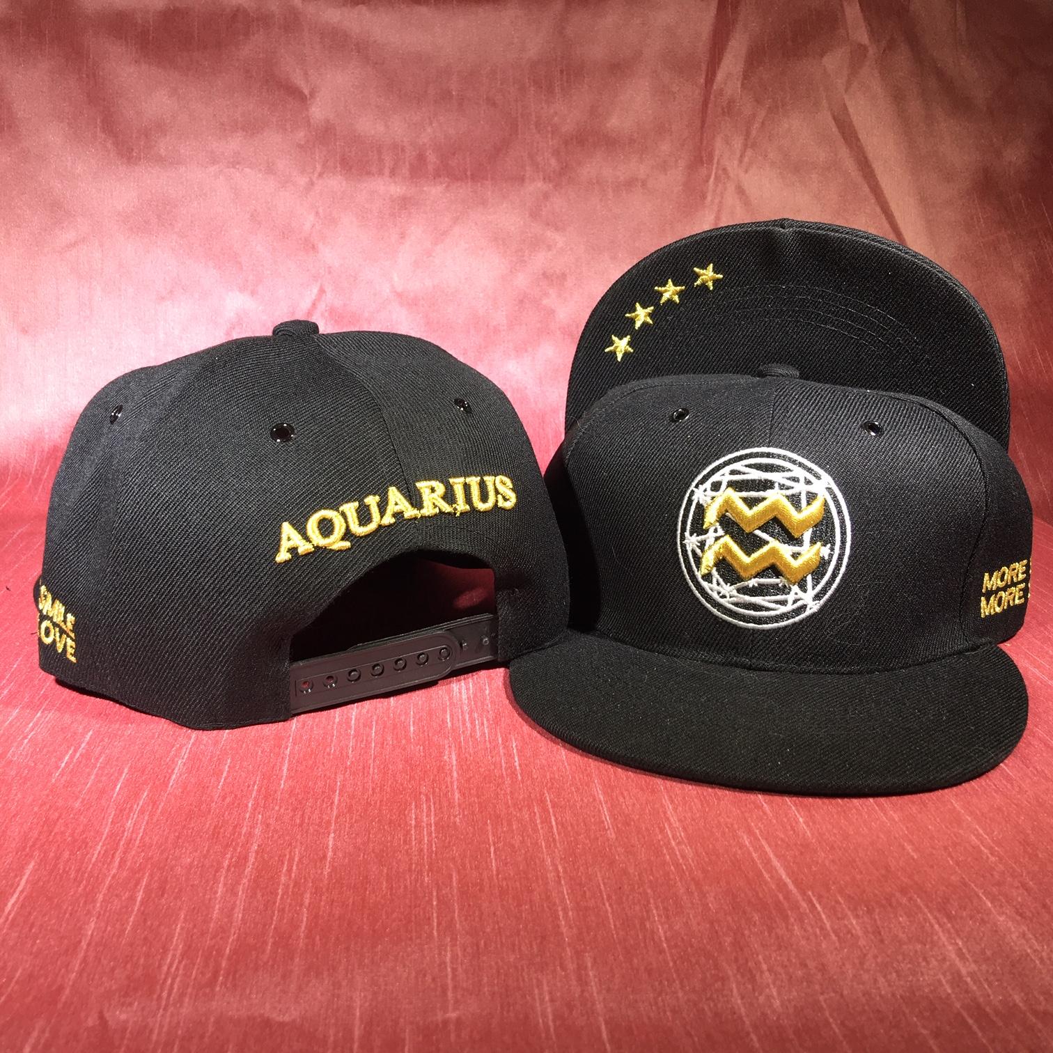Aquarius Flat Back Baseball Cap   (January 20 to February 18)