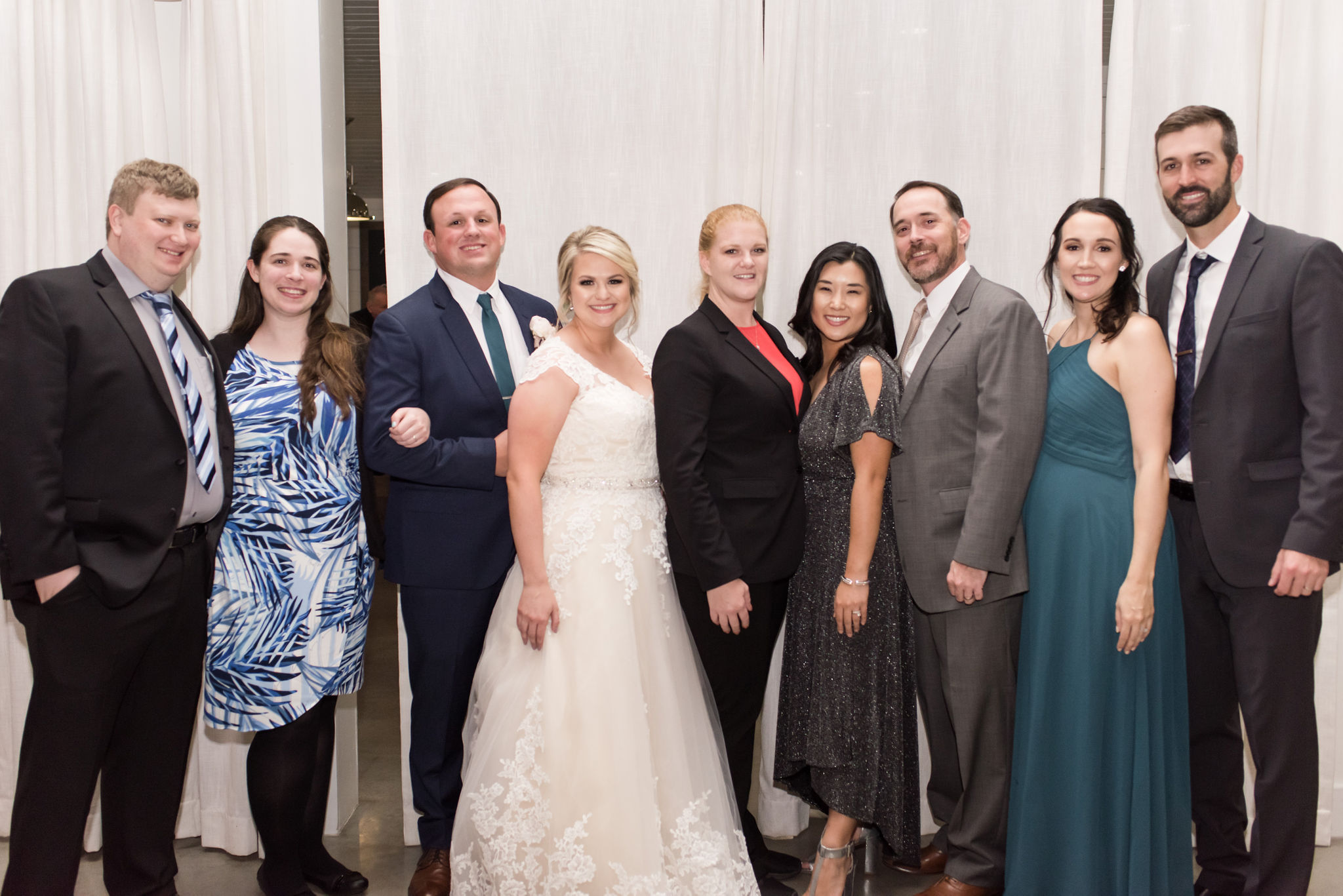 Pictured here are 4 couples, whose weddings were all planned by Christie! (Left to right) Brandon & Brandi 11/2016, Chad & Kaitlen 11/2018, Anna & William 10/2016, Erica & Ryan 06/2015.   Credit: Eric & Jenn Photography