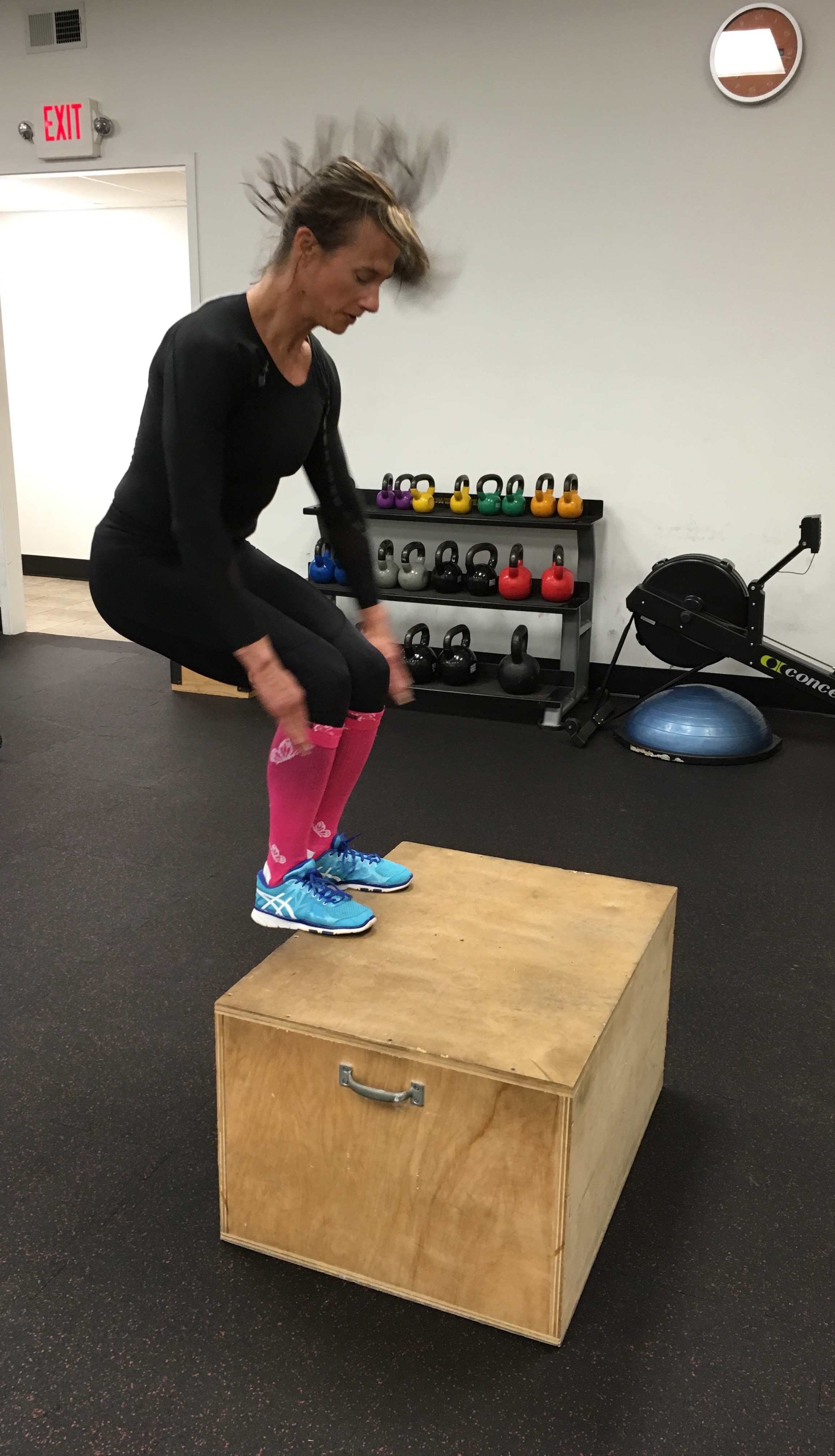 Box Jumps - 50 X's for Time