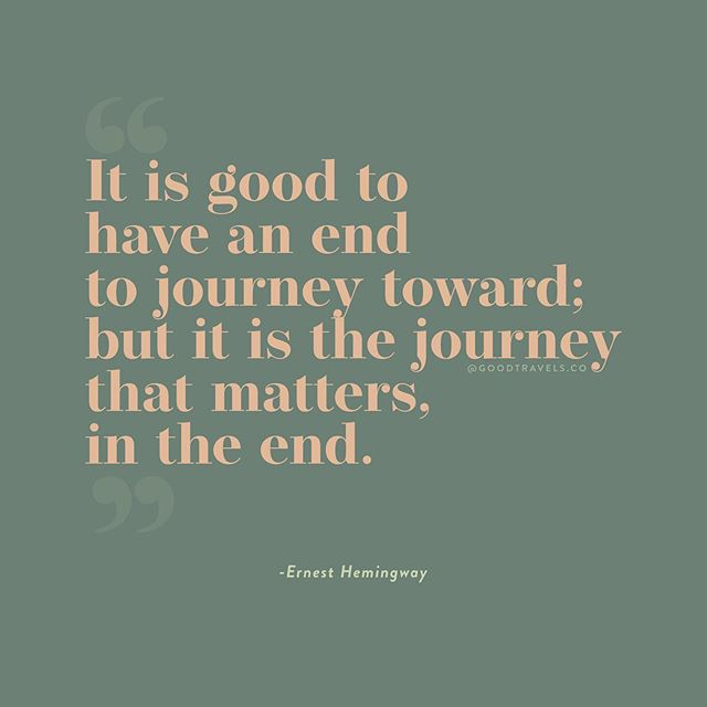 Couldn't have said it better ourselves. Thank you EH. 🙌🏽📖 // #goodtravels #journey #travelquotes #qotd #quotestoliveby #inspirationalquotes #ernesthemingway