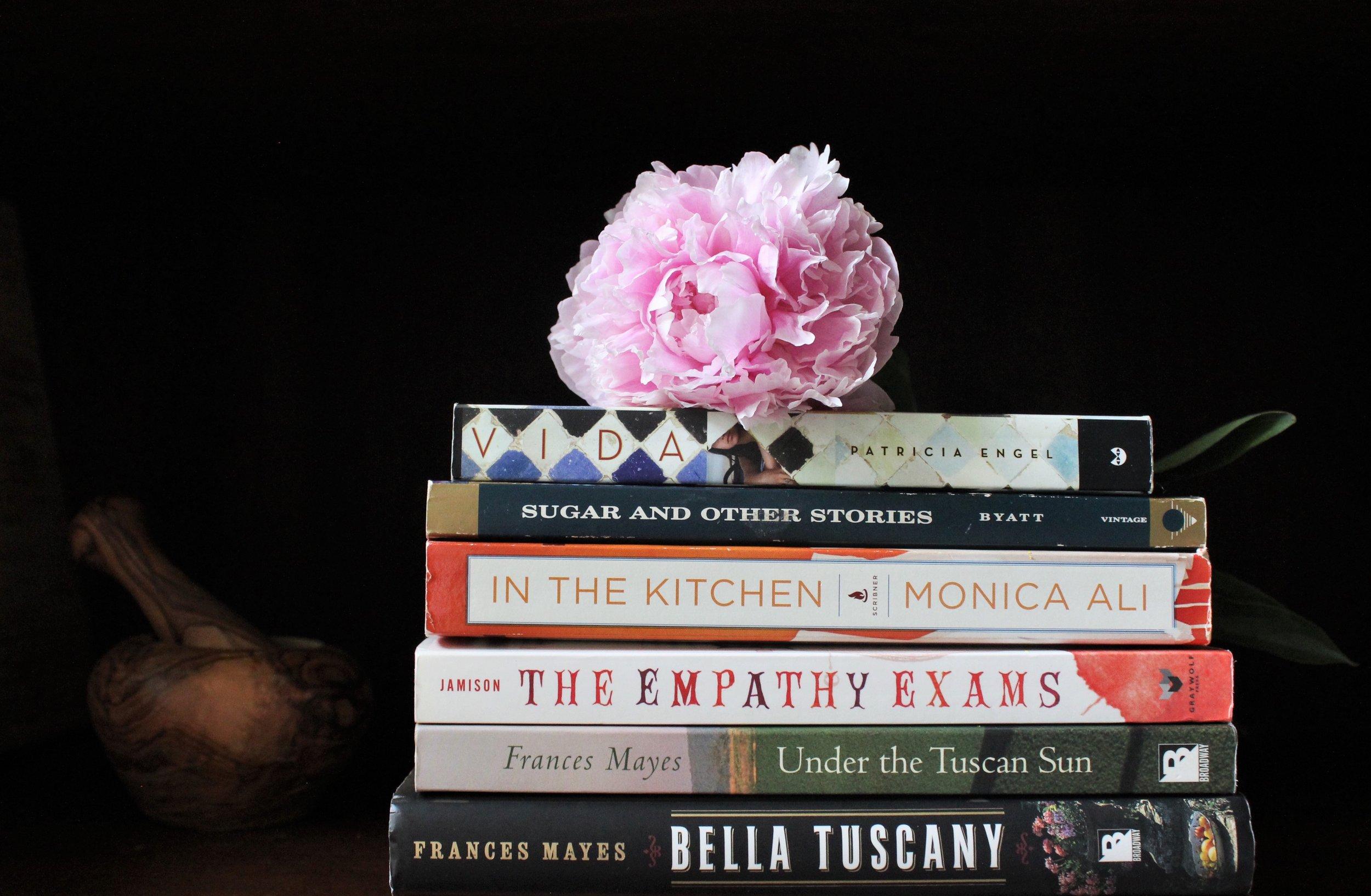 Peonies + Bookstack
