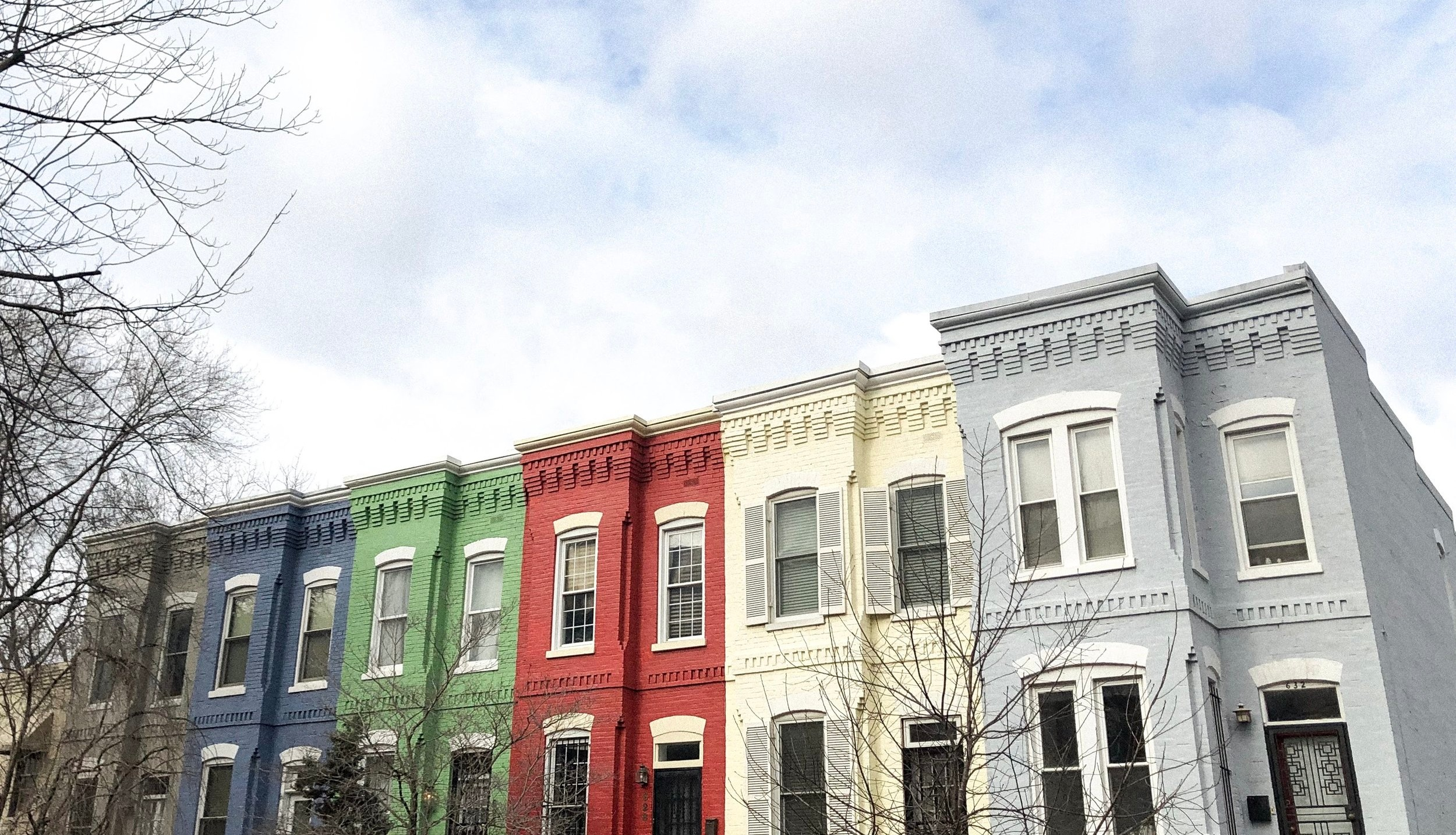 washington dc row homes