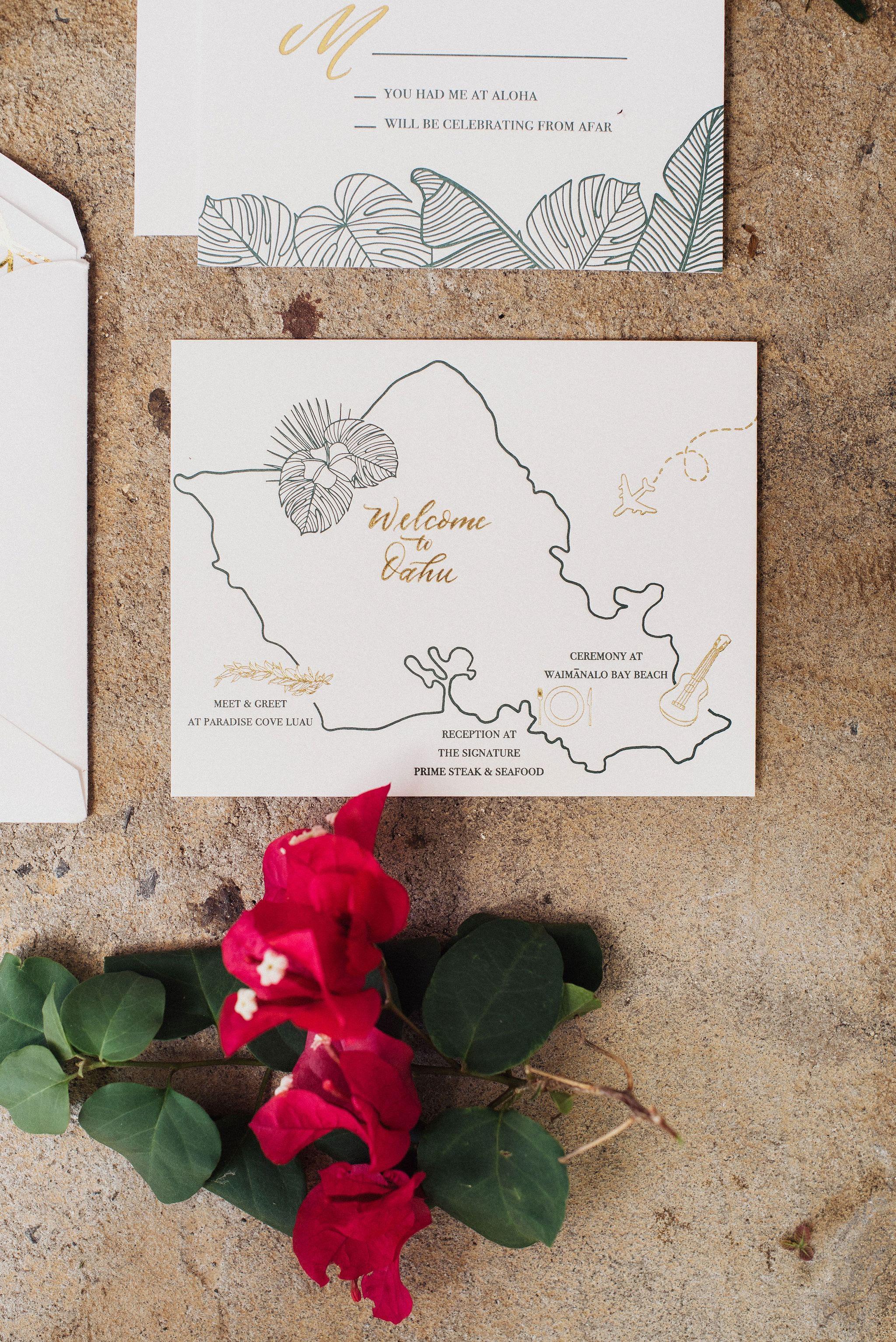 wedding map destination wedding hawaii