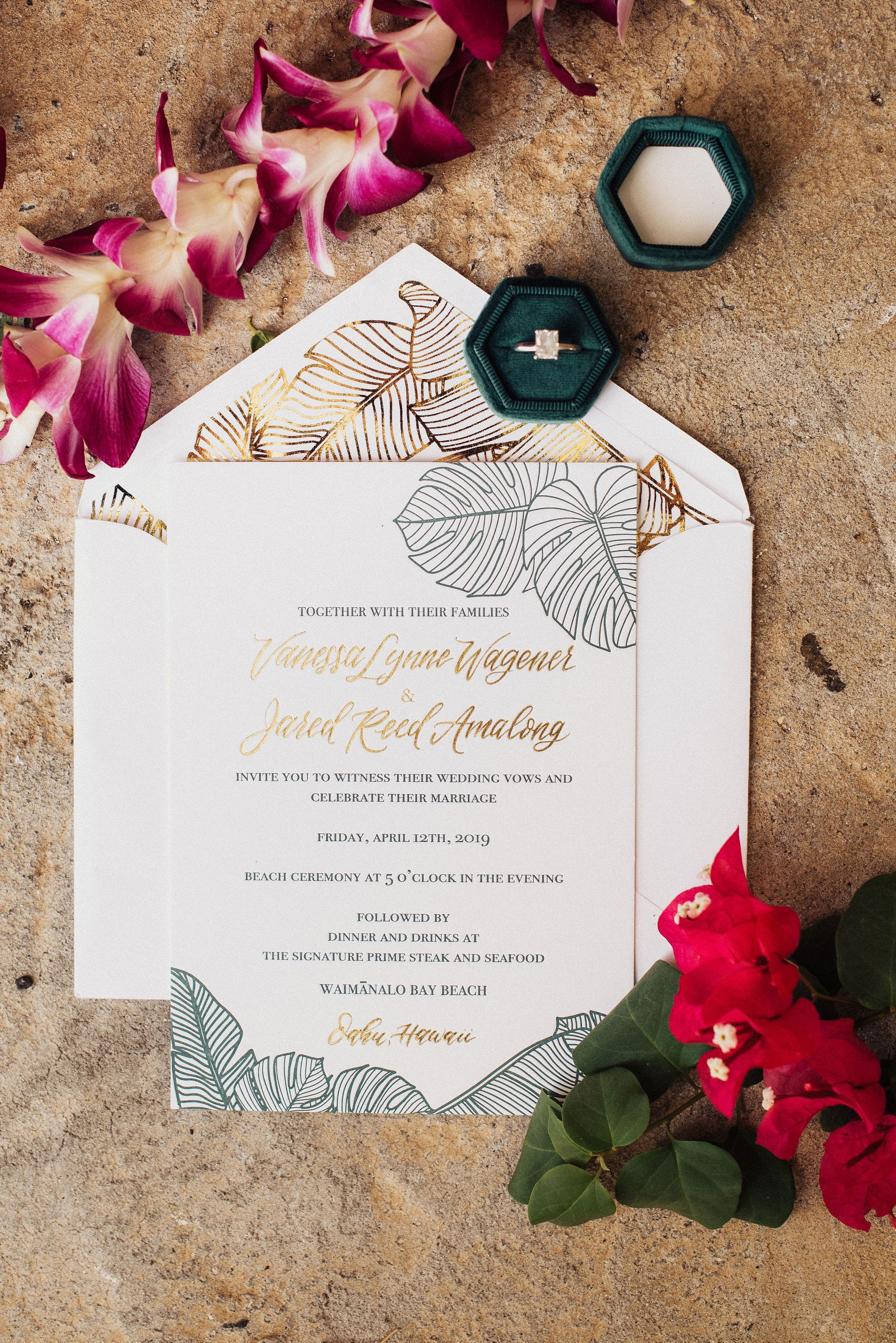 Destination Wedding invitation suite