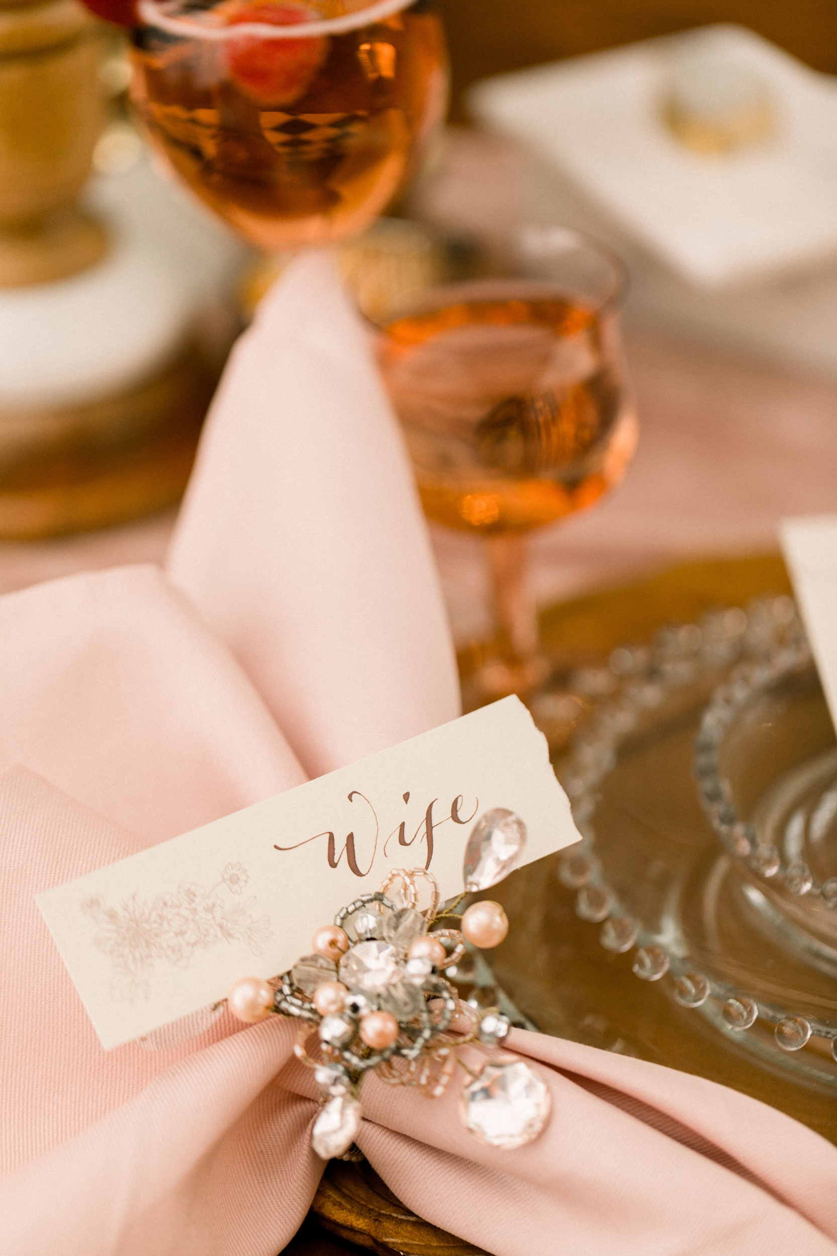 Place card with illustration