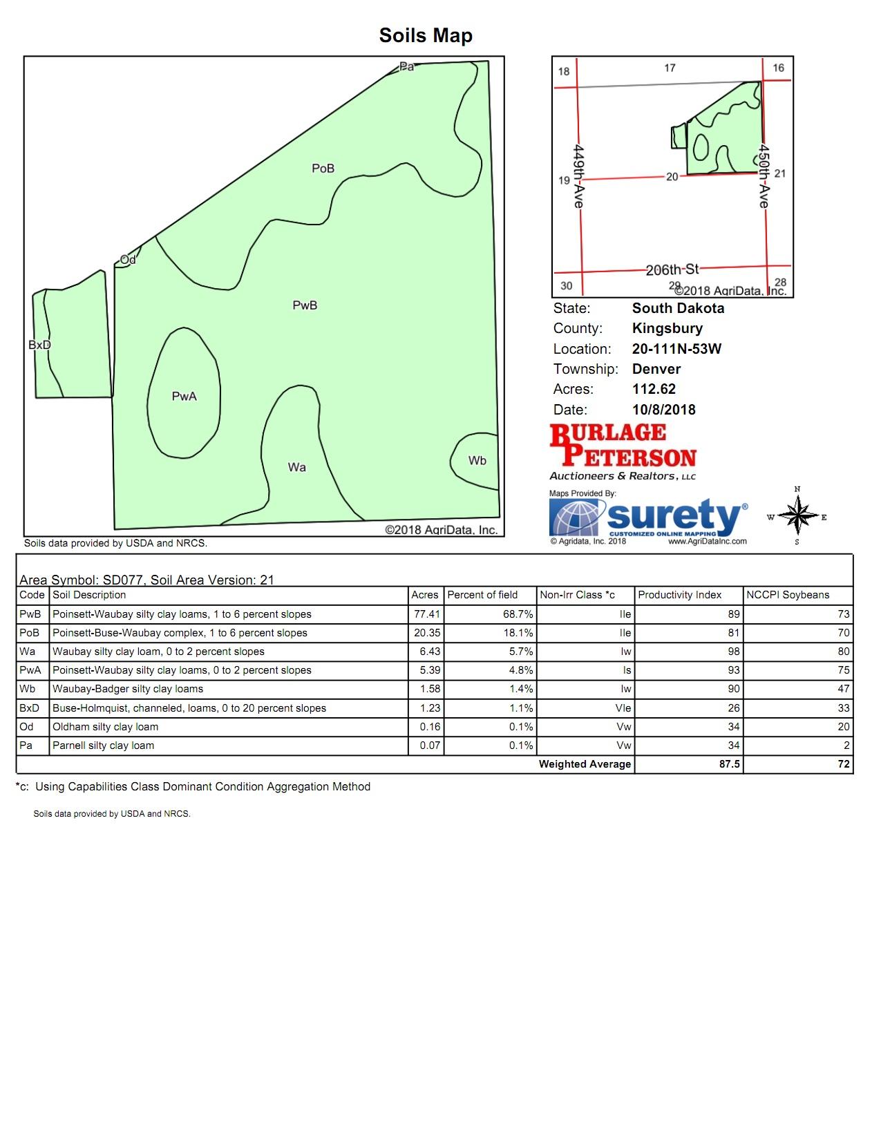 Tract II Soil Map