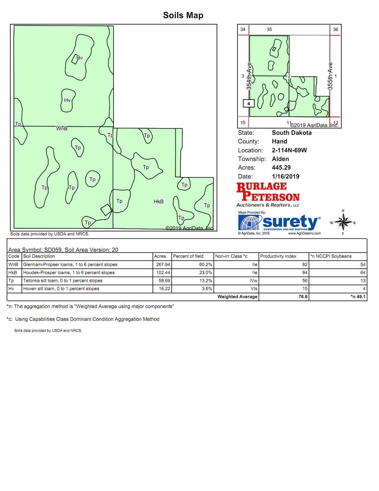 Tract 1 Soil Map