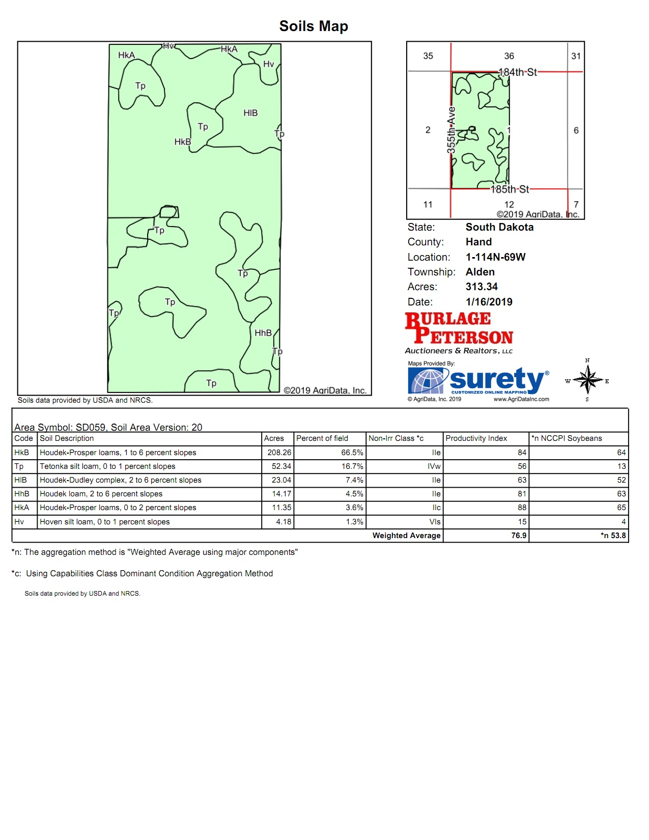 Tract 2 Soil Map