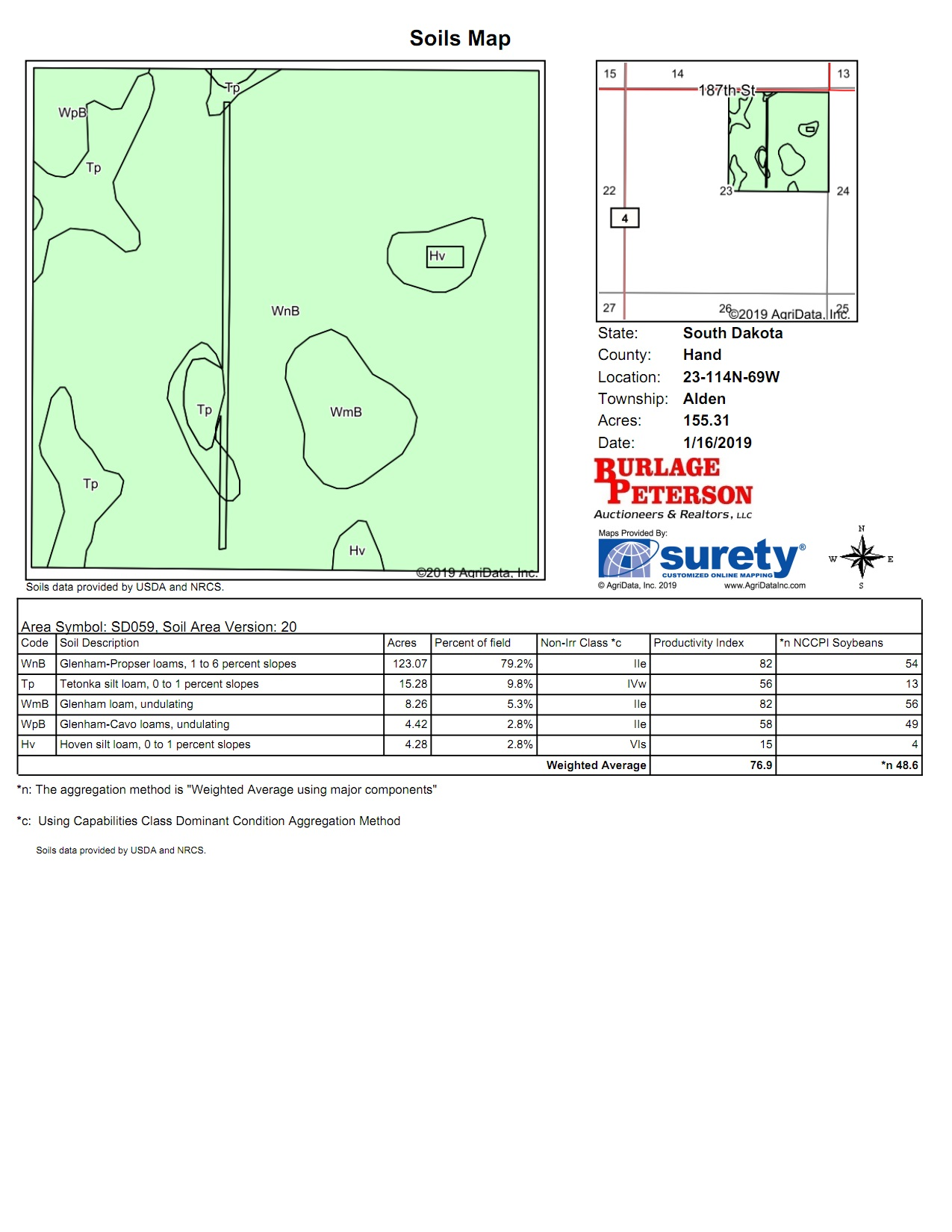 Tract 4 Soil Map