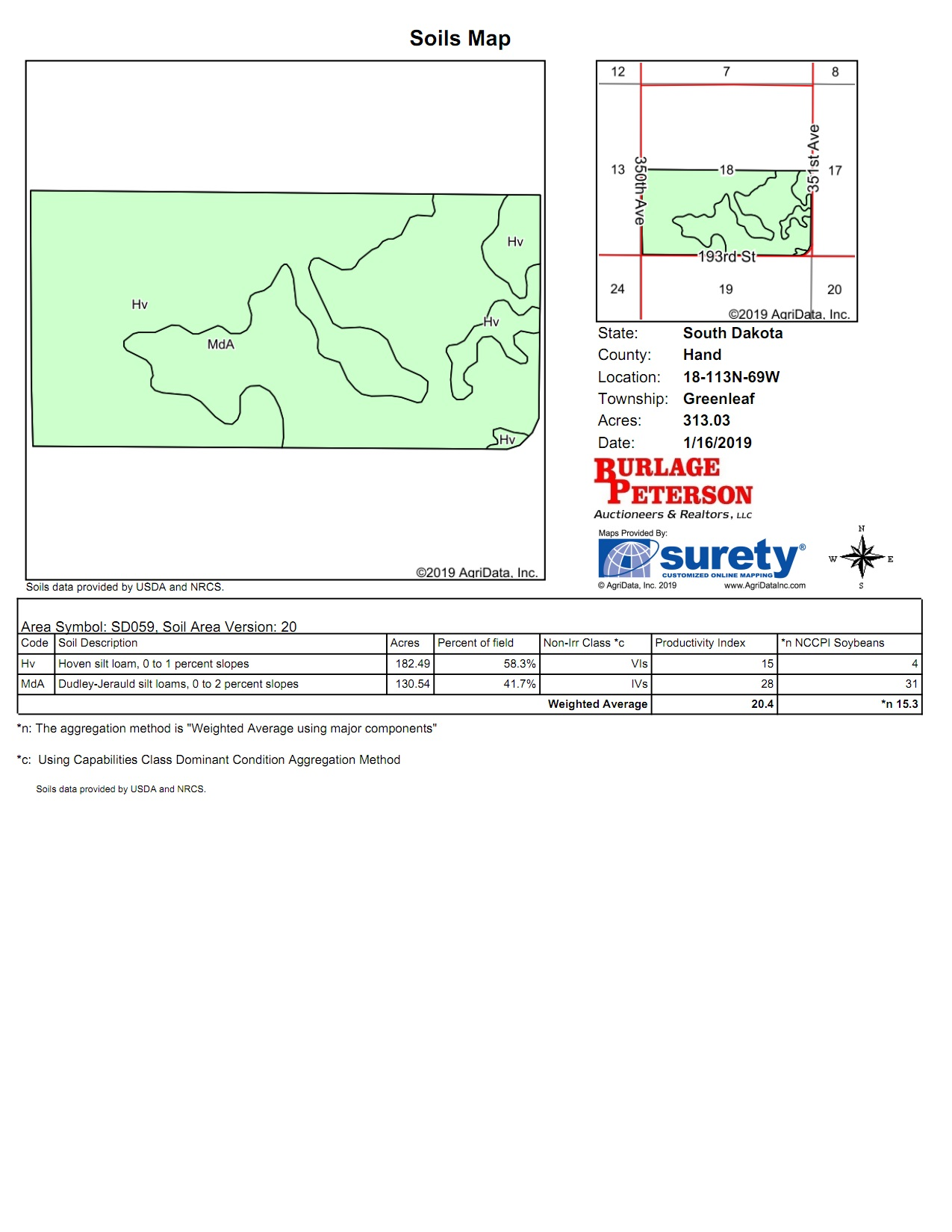 Tract 10 Soil Map