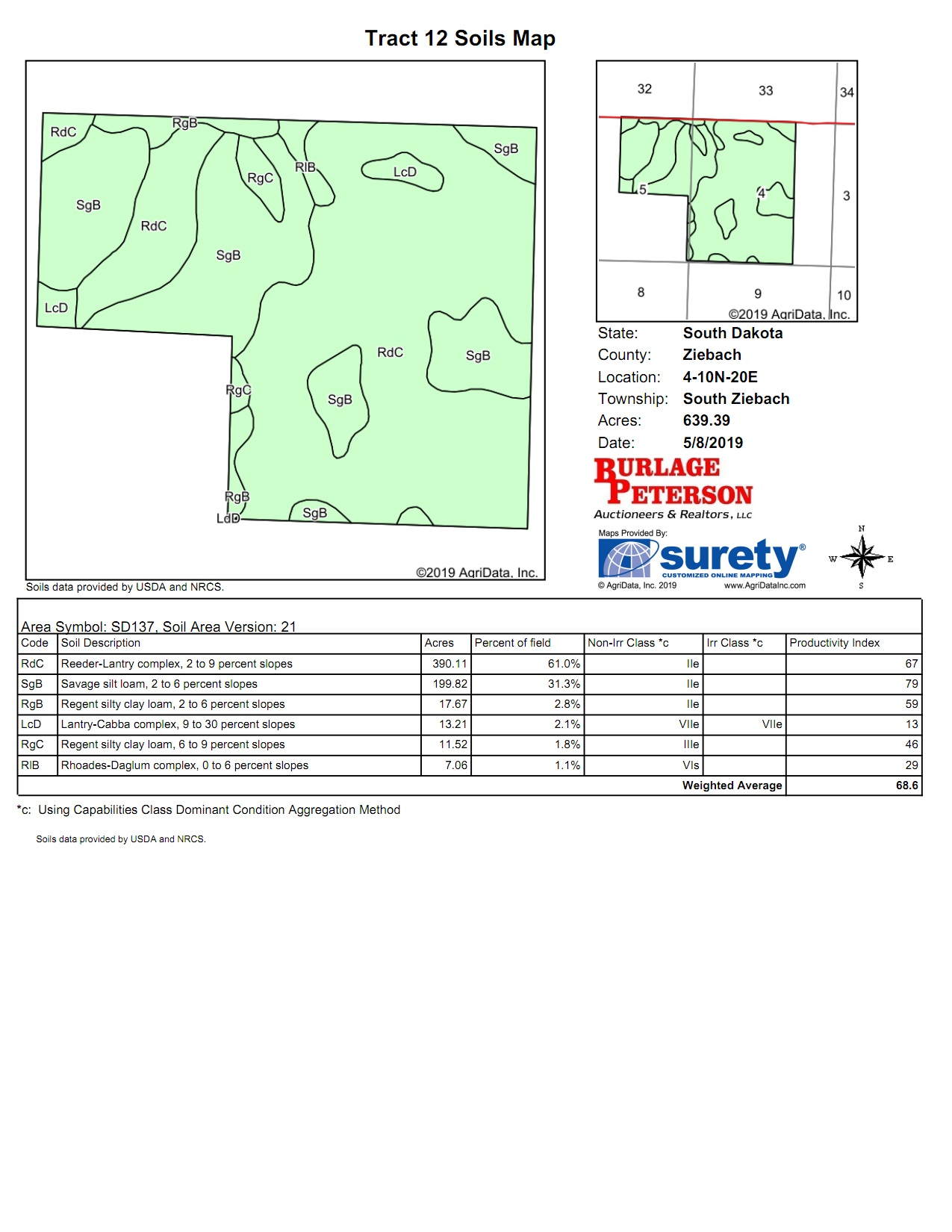 Tract 12 Soil Map