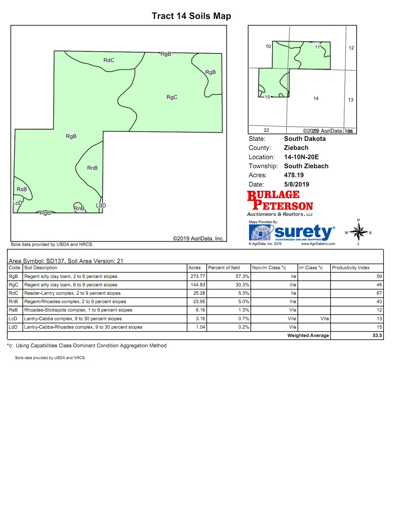 Tract 14 Soil Map