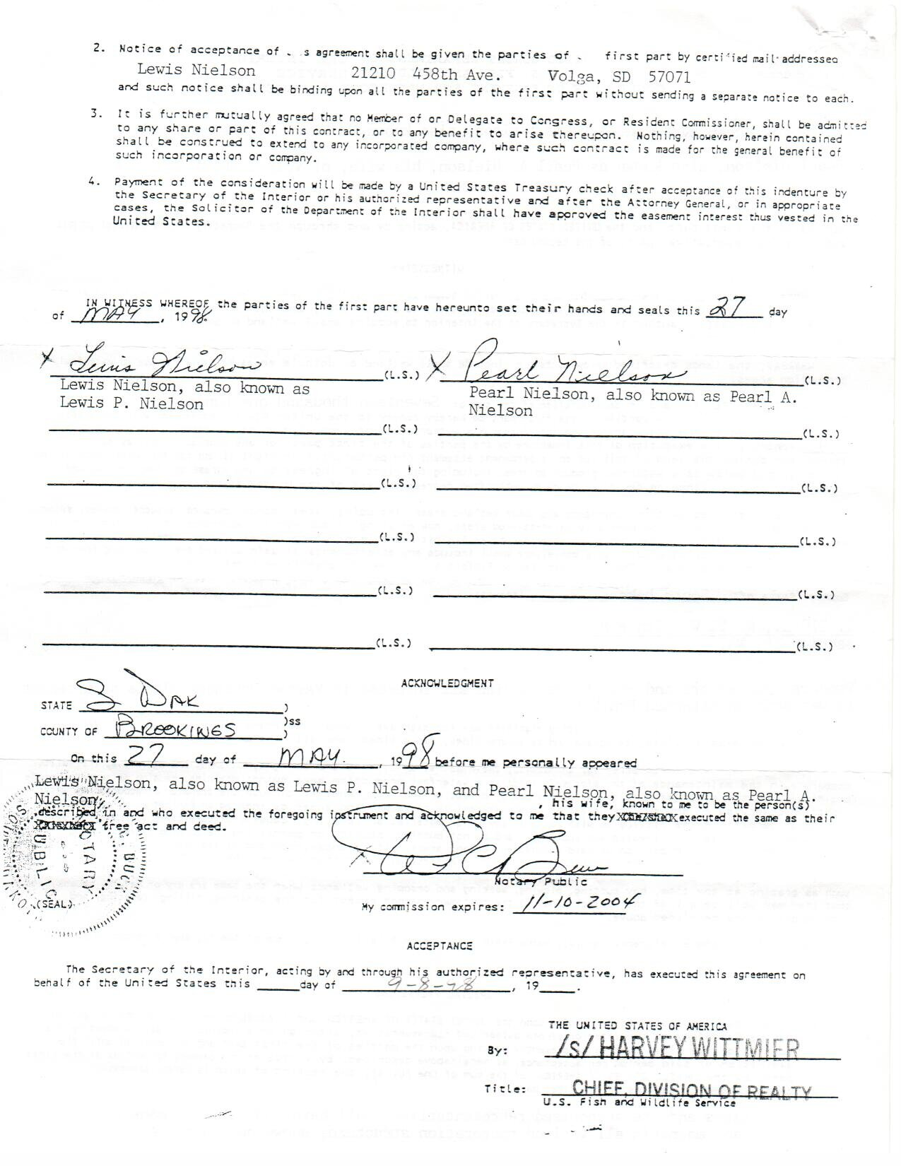 Easement Page 1