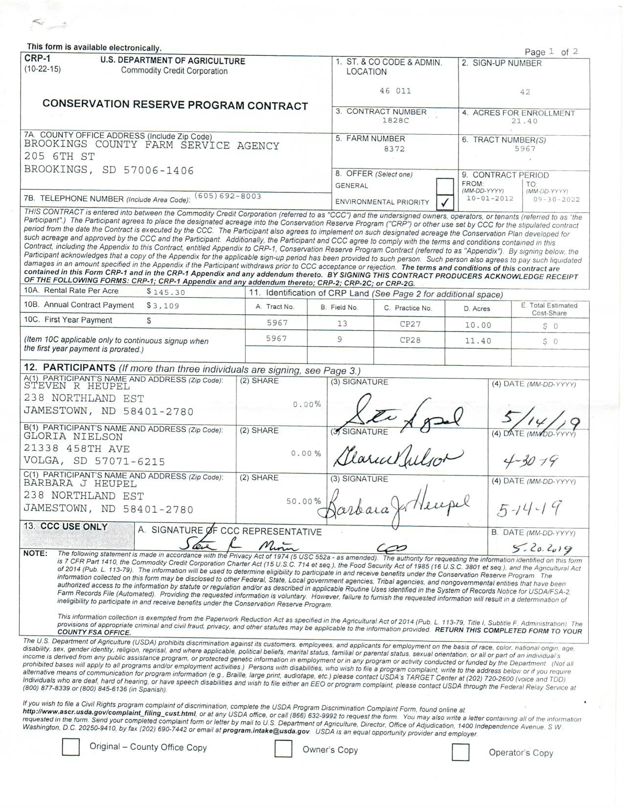 CRP Contract 2
