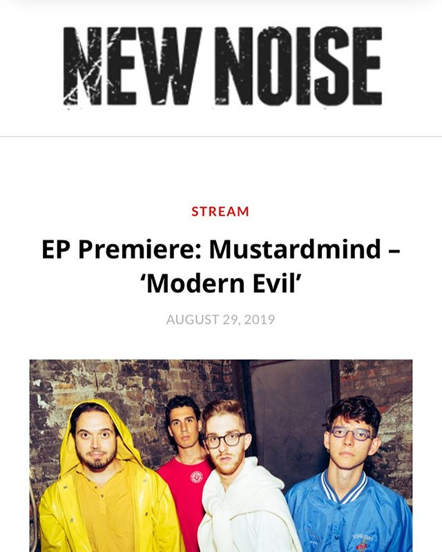 The new EP is streaming everywhere tomorrow but to hear it a day in advance NOW at @newnoisemagazine