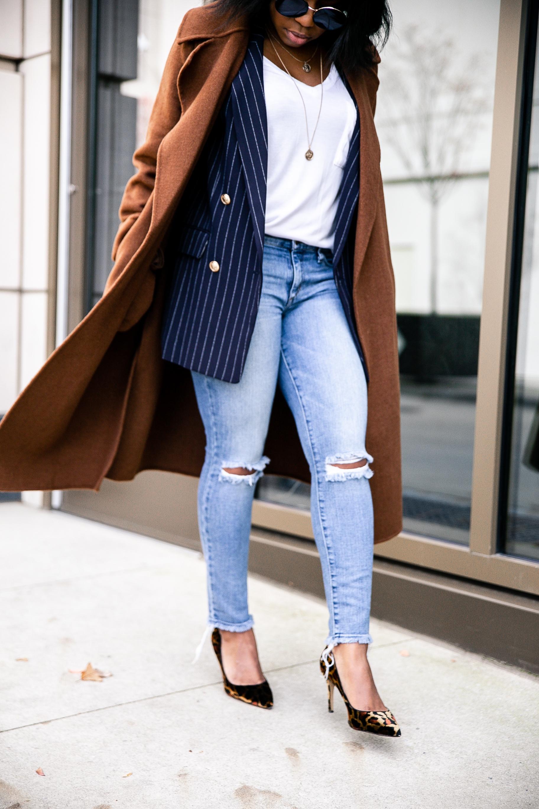 Blazer;  H&M  // Tee; Zara // Shoes; Ann Taylor - old // Sunglasses; Francesca's