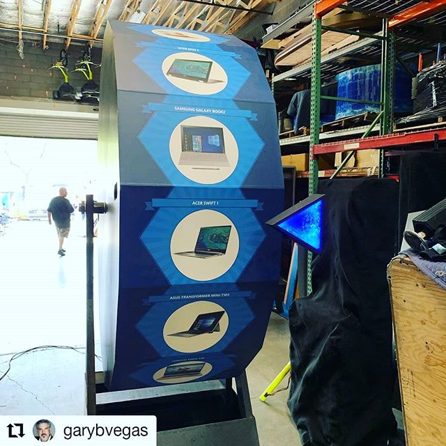 #repost Friday! The team @justcallgary (AE&ES) design & customize amazing prize incentive activations. Nothing more engaging & exciting than a fun way to win a giveaway/prize at a show 👏🏅🎁