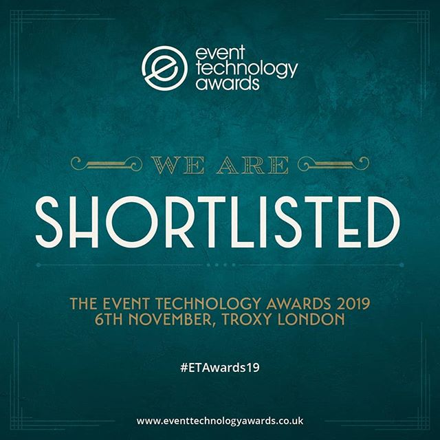 "We are very excited to be shortlisted for the 2019 @eventtechawards under the ""Best Technology Start-Up"" category! See you in London 🇬🇧💂@eventtechlive"