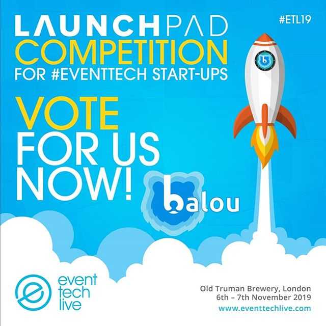 We are very excited to be part of the @eventtechlive Launchpad Competition and we would love to win! Can you please click the link in our bio and vote for us 🐻