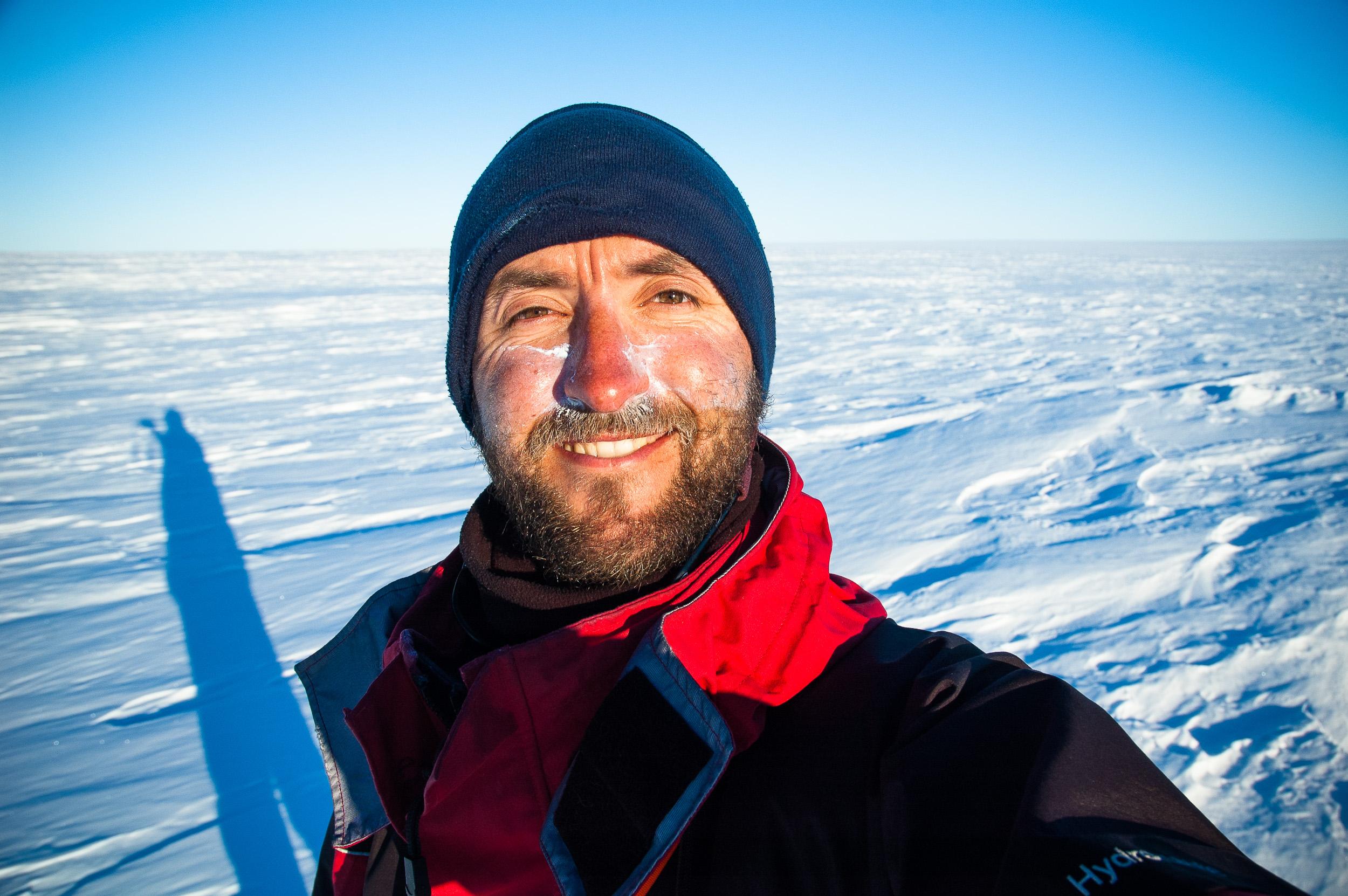 Self portrait, Framnes Mountains, Antarctica.