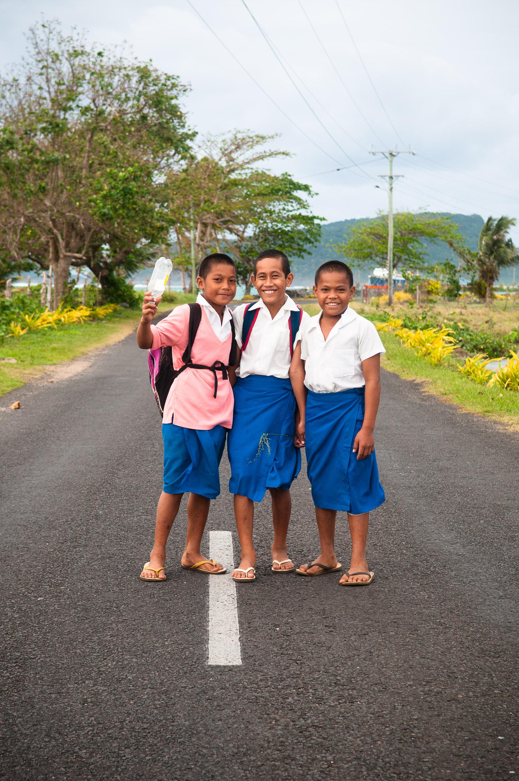 School boys, Upola, Samoa.