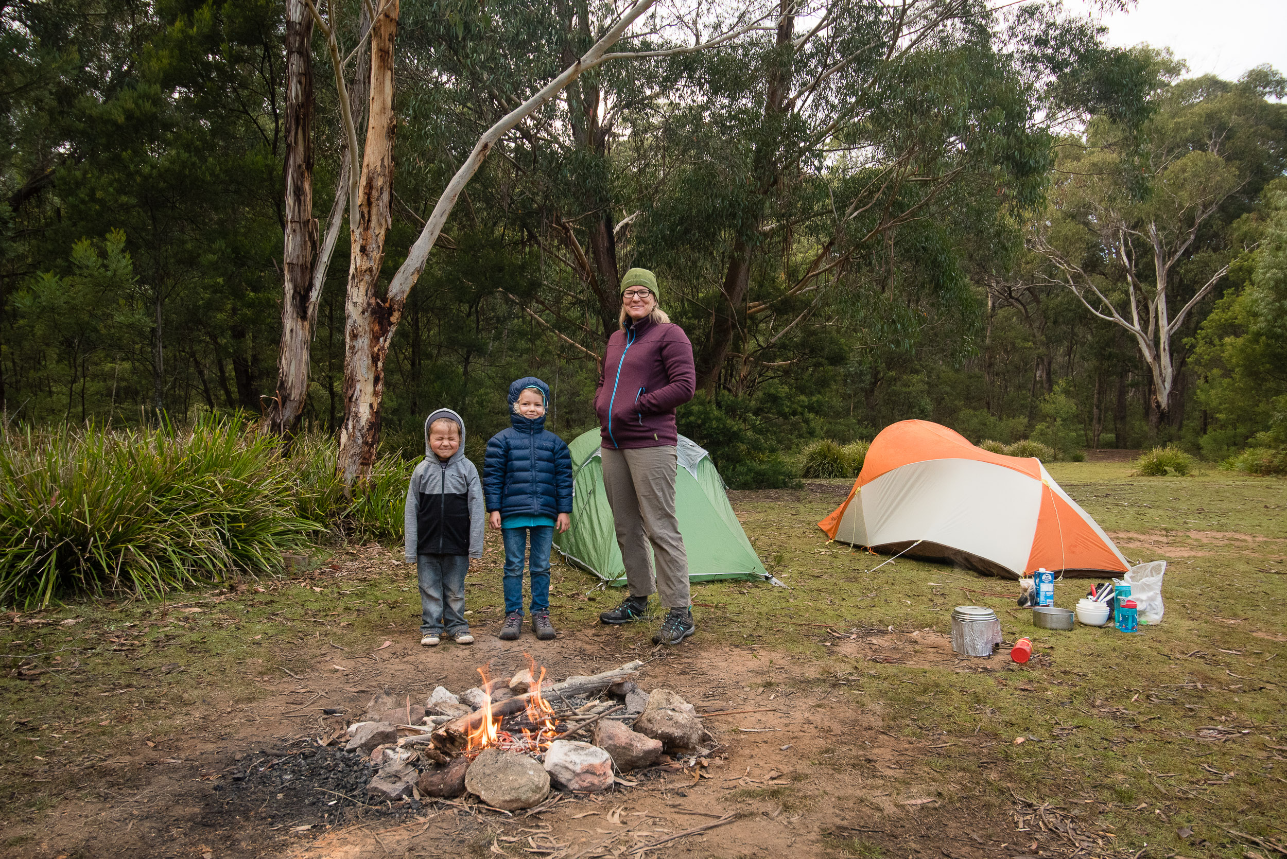 Morning after our night camping at Deep Pass, Wollemi National Park, Blue Mountains, Australia.