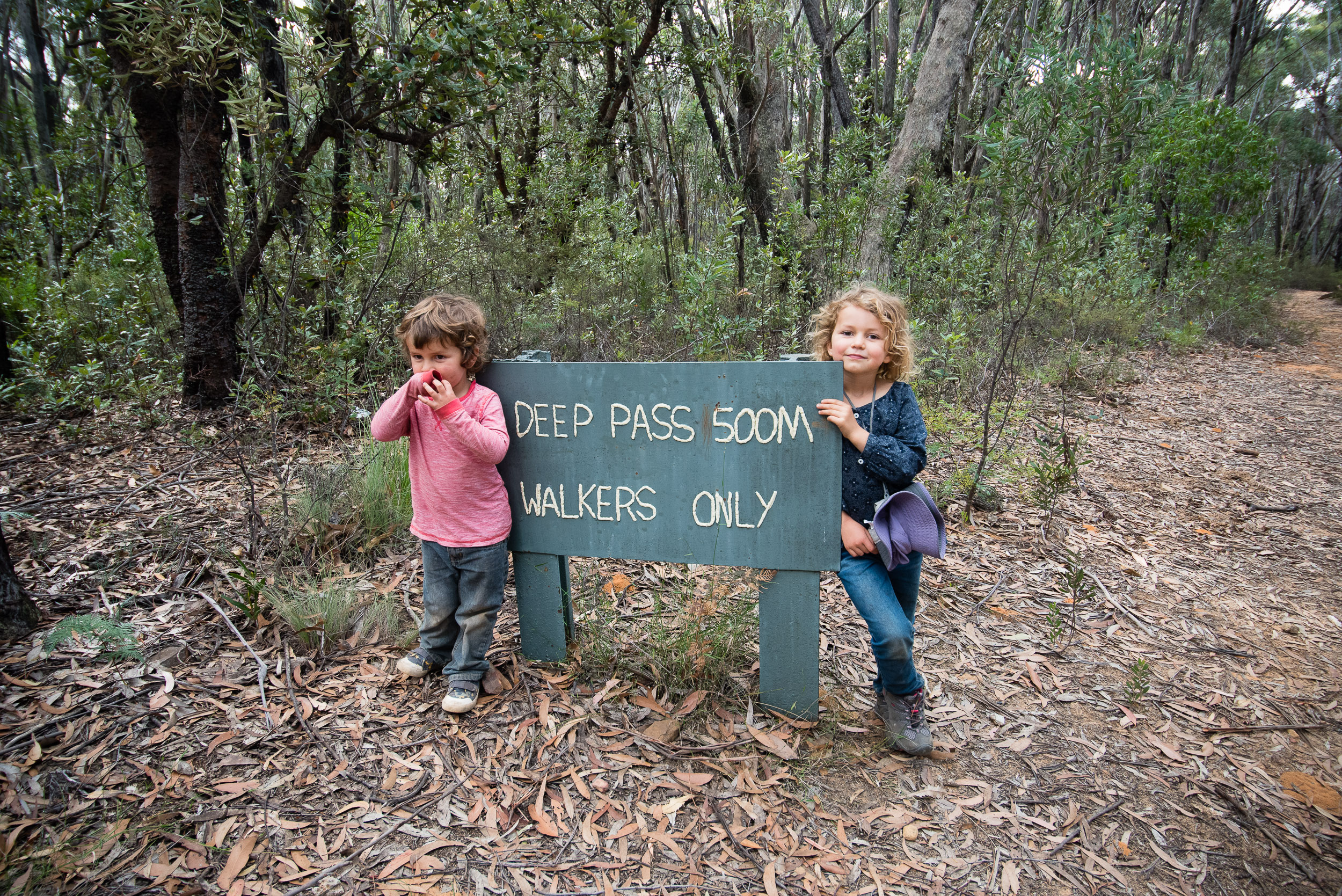 Puffed out, but happy - Finn and Holly at the end of our Deep Pass overnight camping trip. We are proud of you guys!