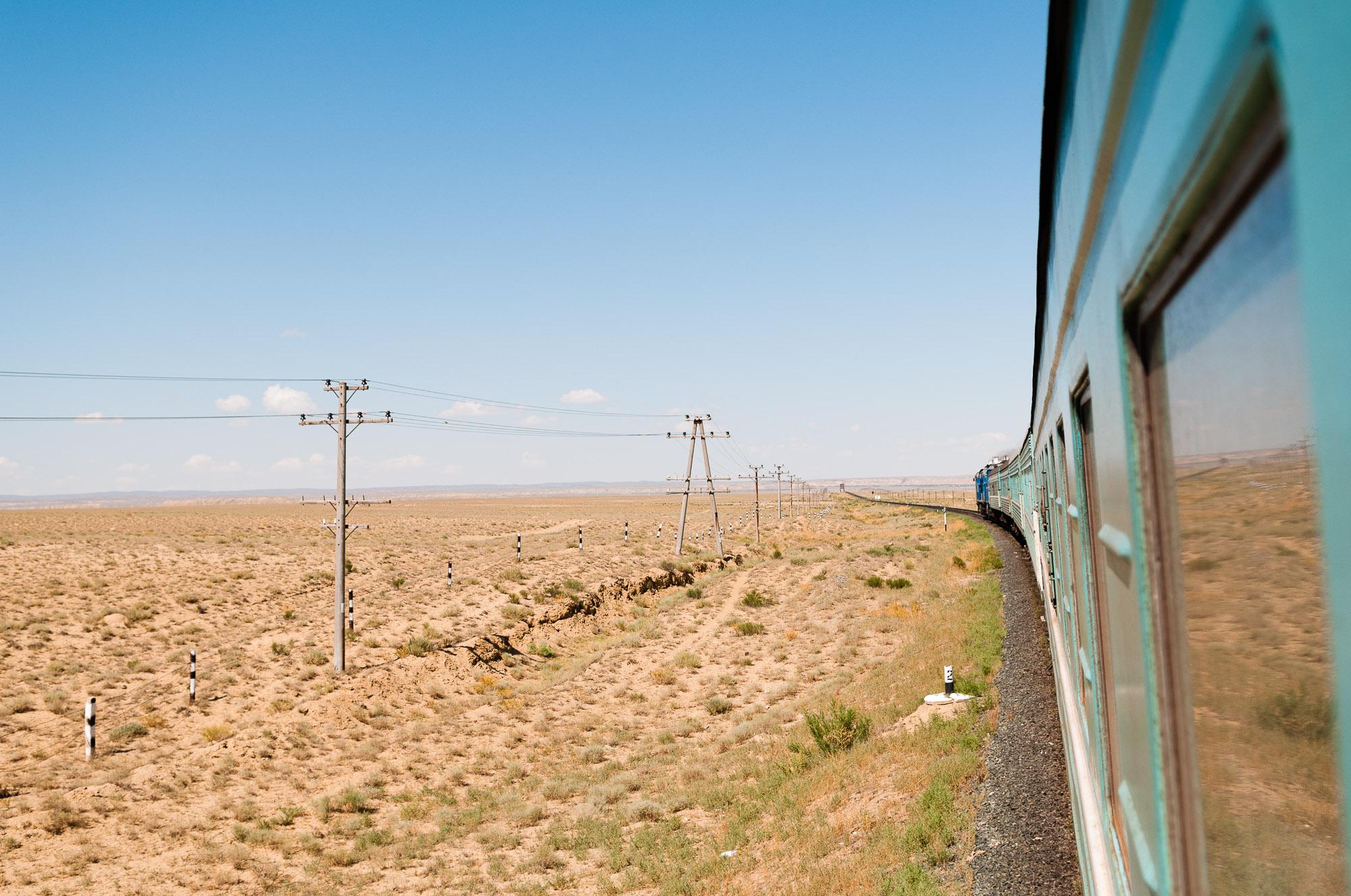 The barren landscape of western Kazakhstan. © www.thomaspickard.com