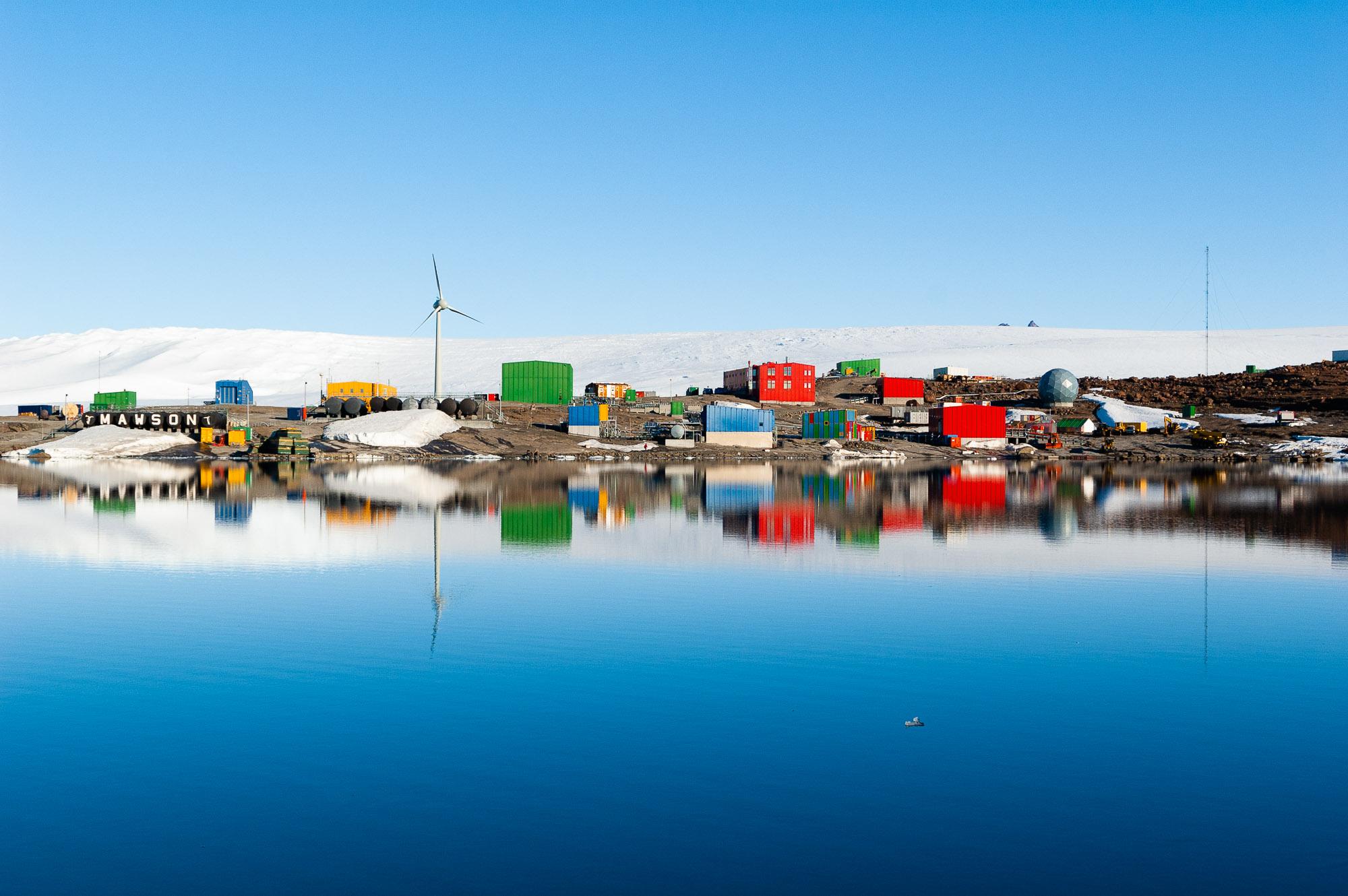 Mid summer at Mawson Station, Framnes Mountains, Mac Roberston Land, Antarctica.