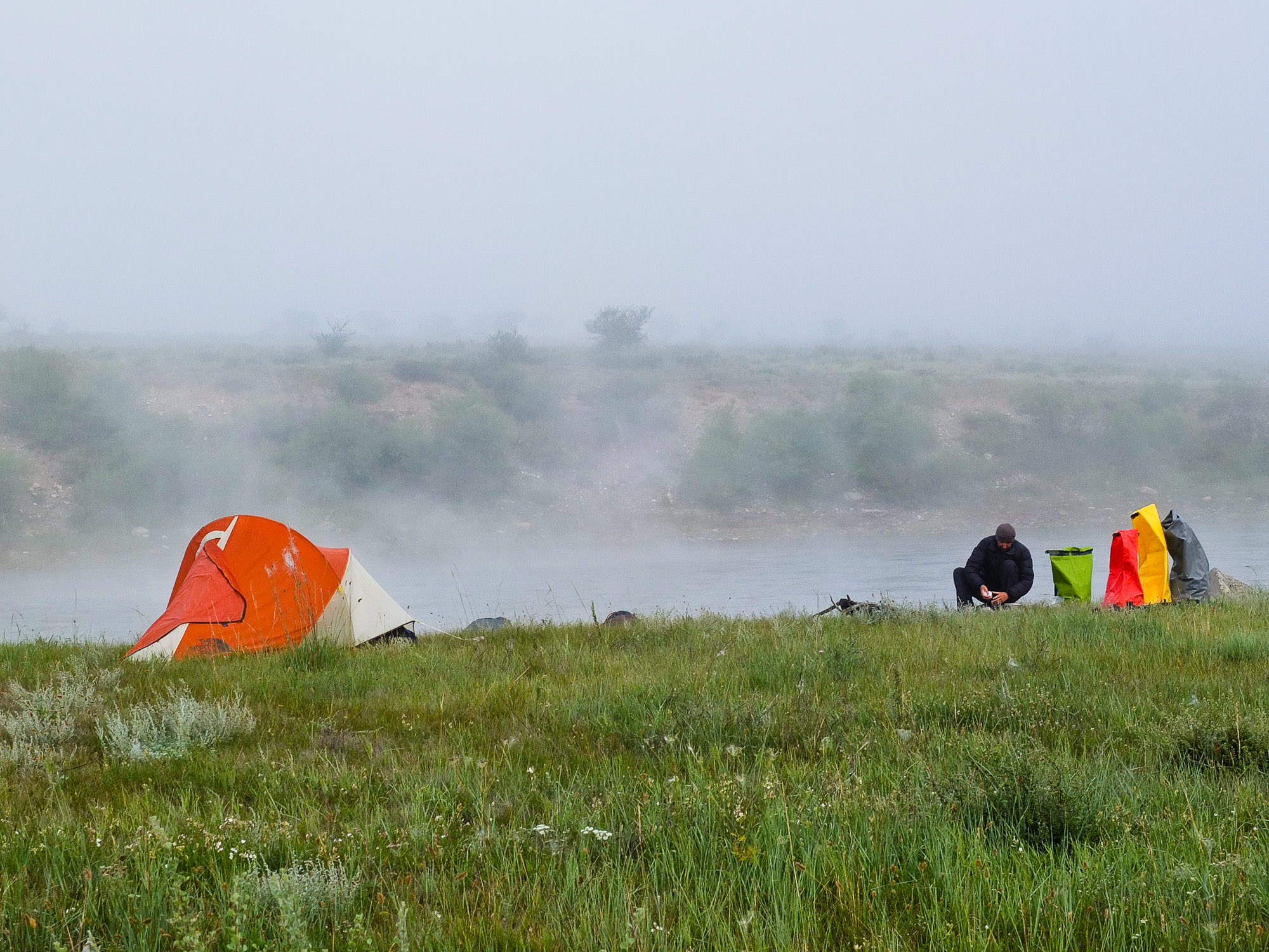 On a river somewhere in Mongolia. Big Sky Camp © J