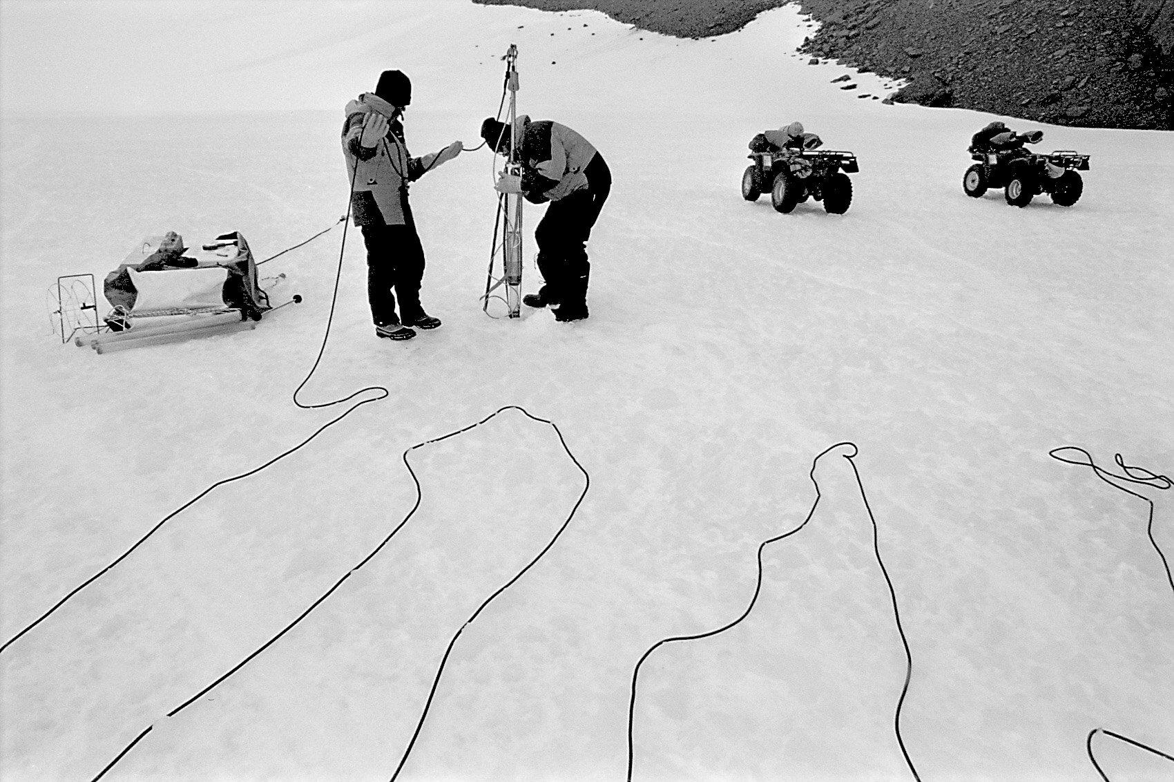 Researchers, Framnes Mountains, Antarctica. © www.thomaspickard.com