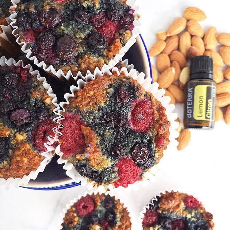 Lemon Berry Bomb Muffins