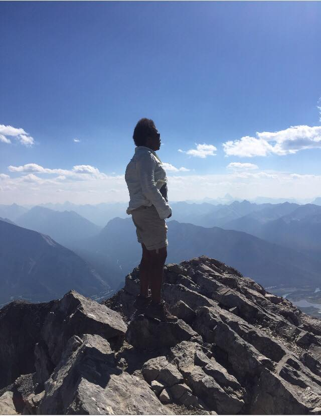 Summit of Cascade Mountain in Banff, AB.