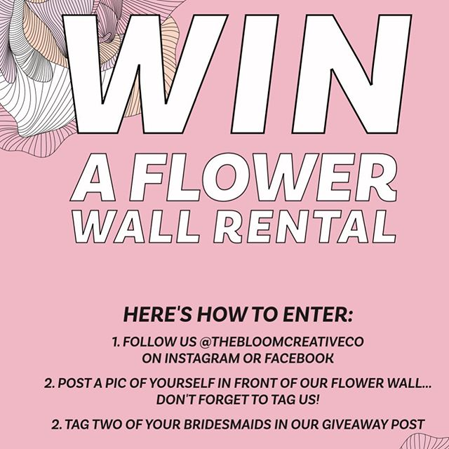 Bridal Show is now OPEN and we're so excited! Come visit our booth and win a FREE flower wall rental!! #thebloomcreativeco