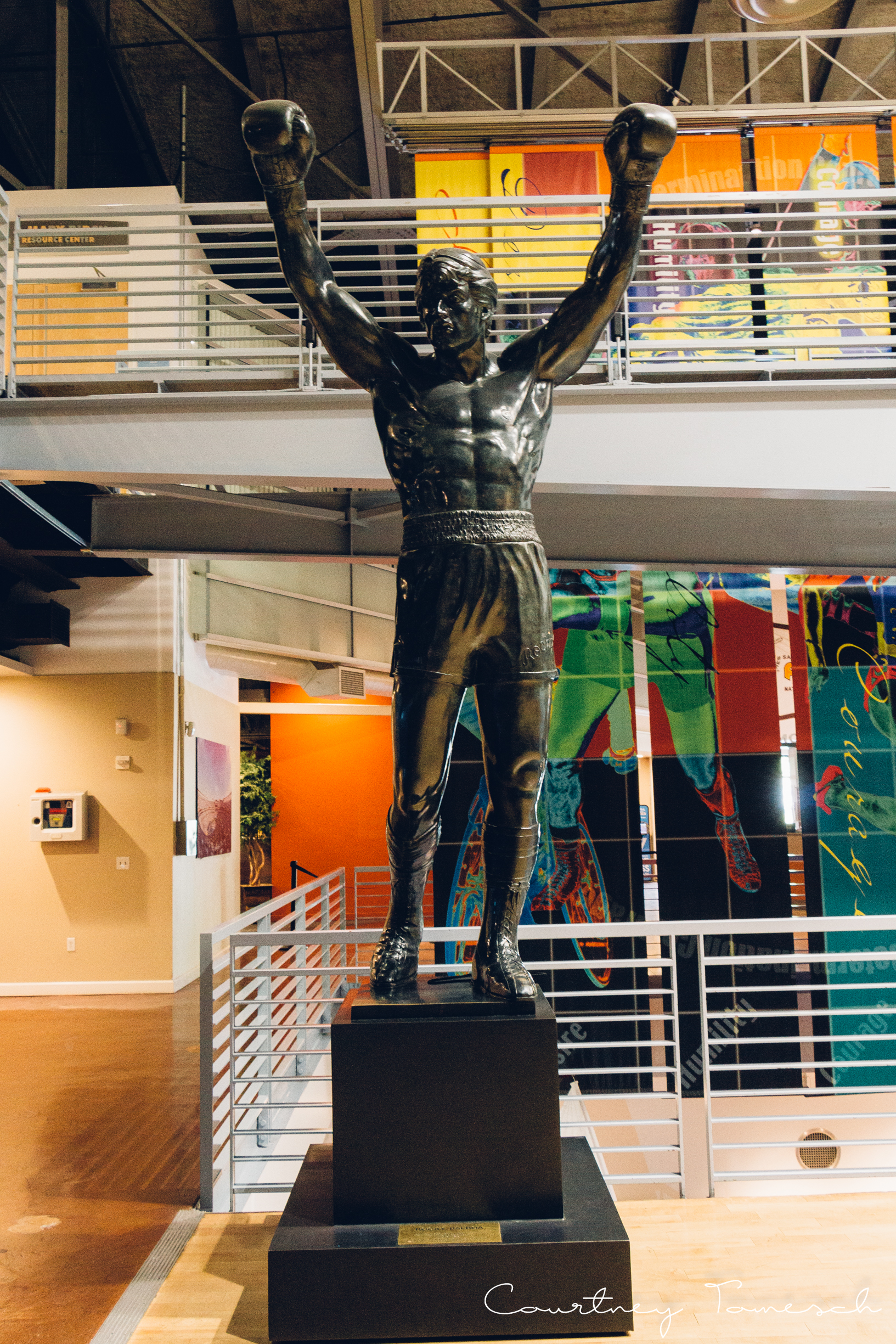 3 statue were made for Rocky III. This one is 2 of 3 on loan to SD Hall of Champions