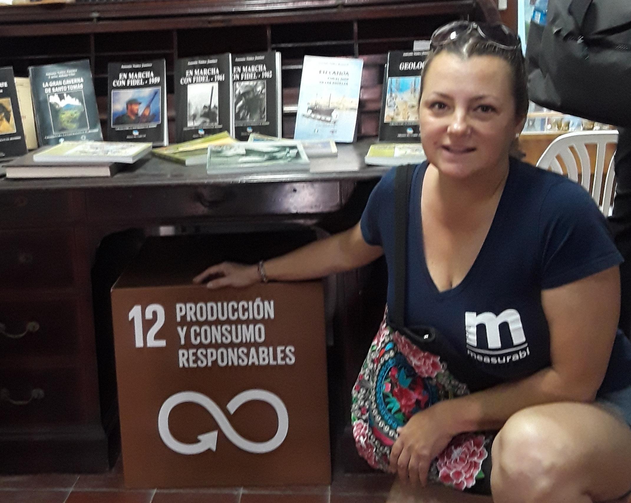 Nancy on a diplomacy trip in Cuba