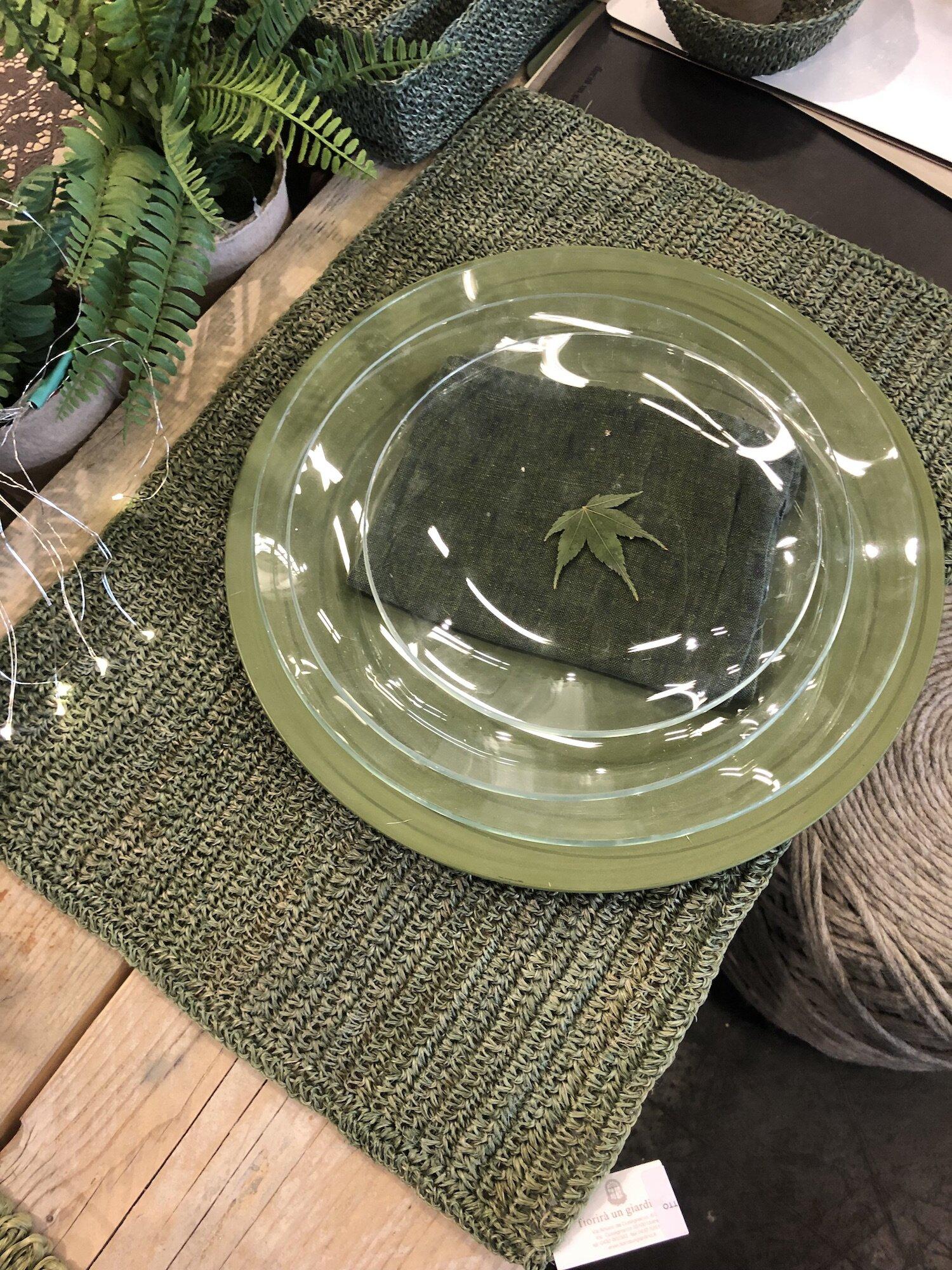 Groen tafellinnen