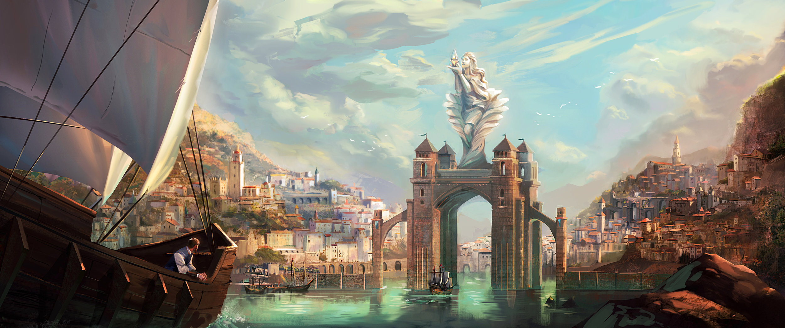 An illustration for 'City of Thaldron' Project