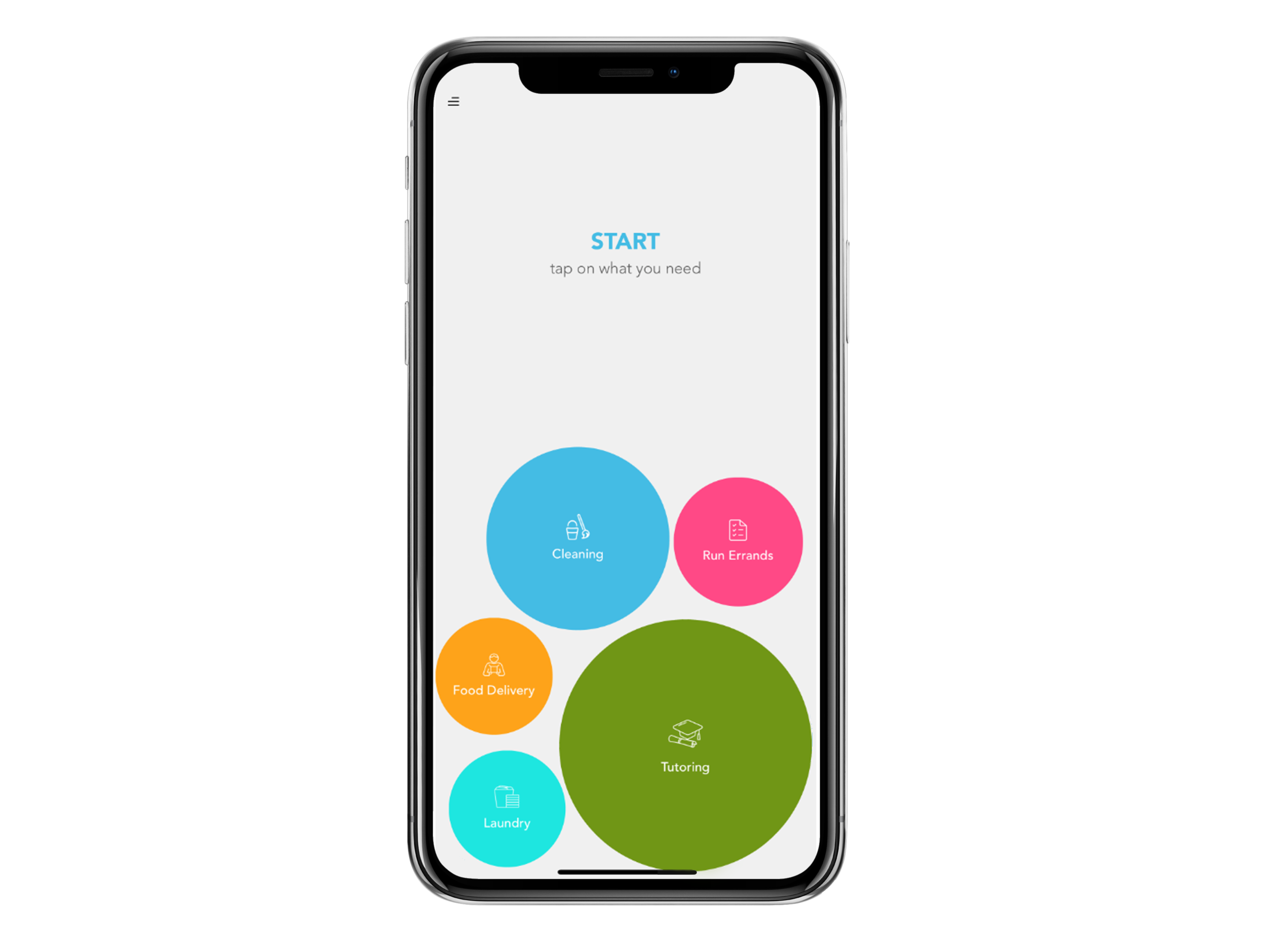 Select a Task - Need help with a task? With Dormzi's easy to use interface, you can quickly select the task you want to be completed, and a Dormzi will be at your door in moments.