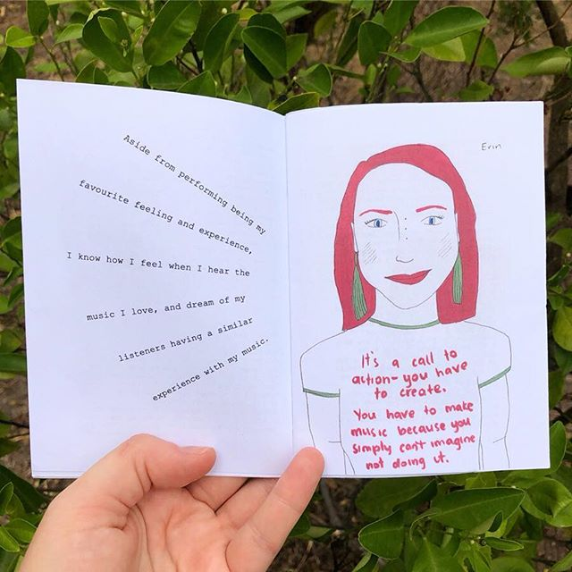 Thanks to @cintagram aka Jacaranda Snow for including/interviewing me in her most recent zine 'The Performer' (swipe to see the question). For all you zine fans, these bad boys are for sale for $5 (+postage) and you can grab one by visiting her fb page fb.com/jacarandasnow 💕