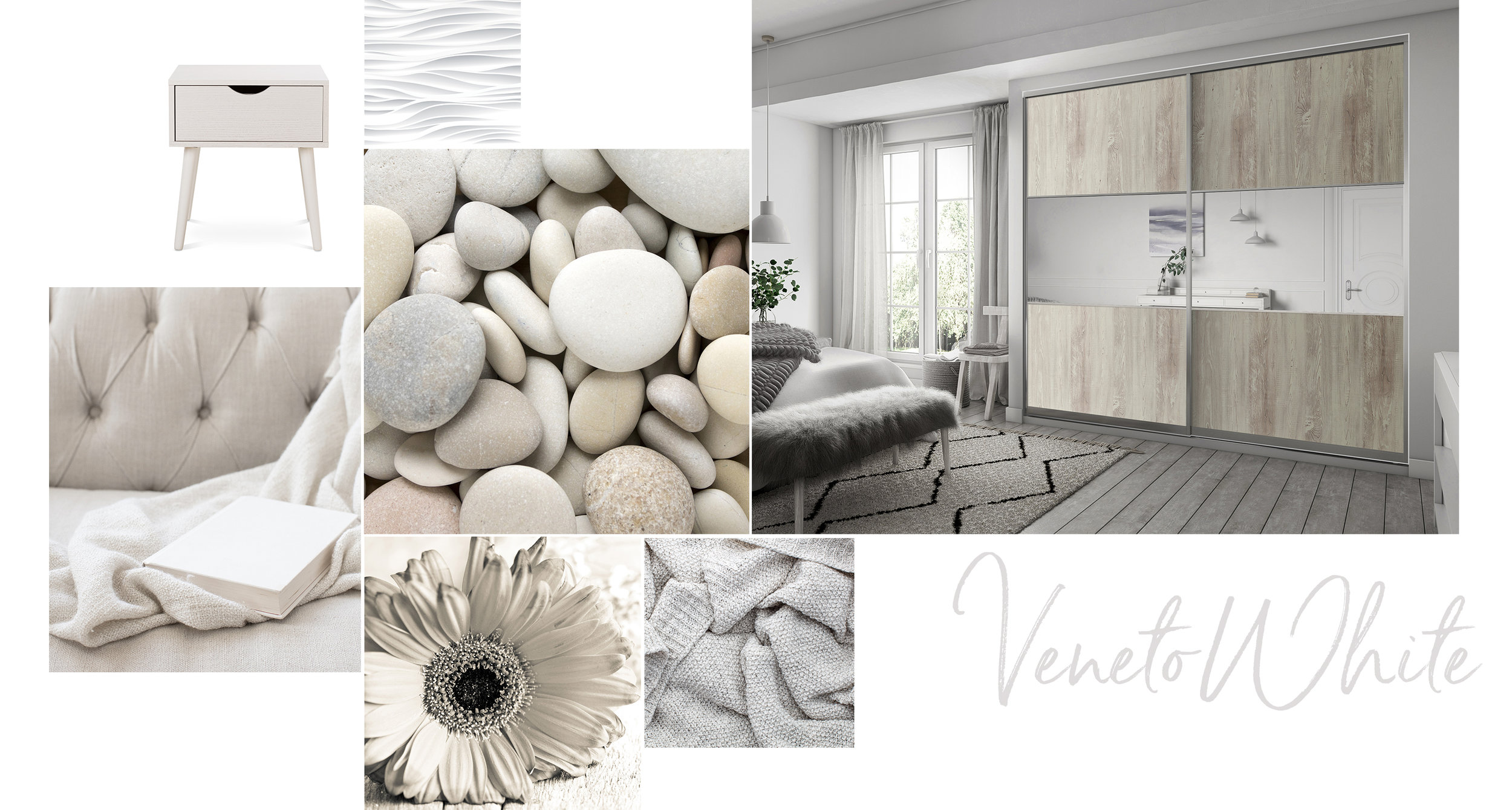 'Veneto White' - the purest of all our finishes, where whites are juxtaposed next to softest neutrals, to offer the most delicate of palettes. This tranquil selection of finishes is simple, yet beautiful and will look as stunning in years to come as it does today.