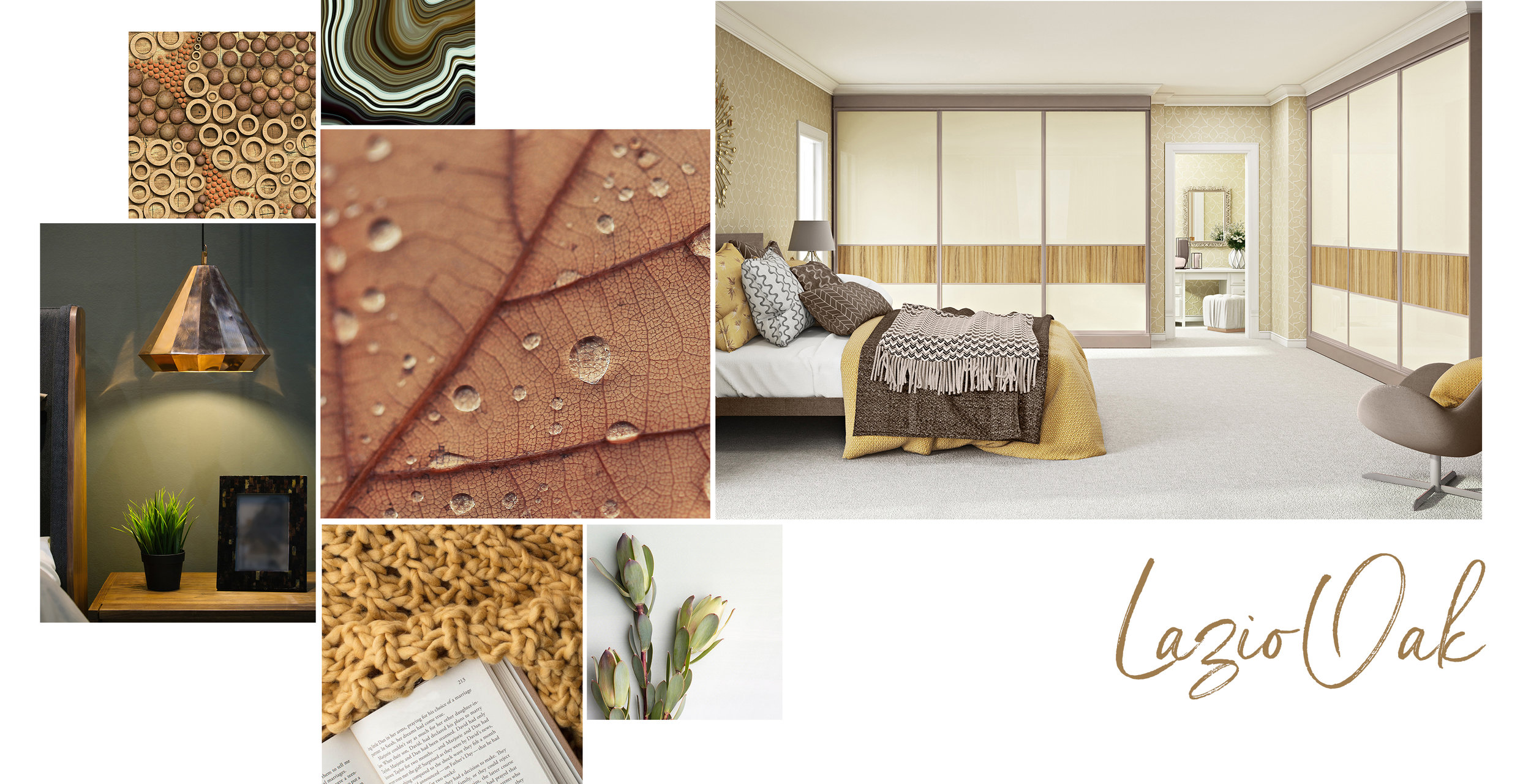 'Lazio Oak' is a perfect palette for any time of the year, but its tones are definitely reminiscent of Autumnal shades. A fusion of warm and earthy neutrals is mixed with rich ochres and olive hues, offering the perfect complement to timeless oak.