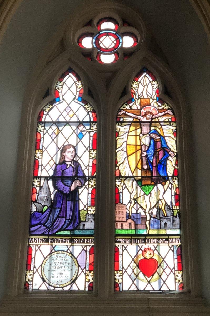 The Mary Potter Memorial Window, St. Anne's Church, Spitalfields, London