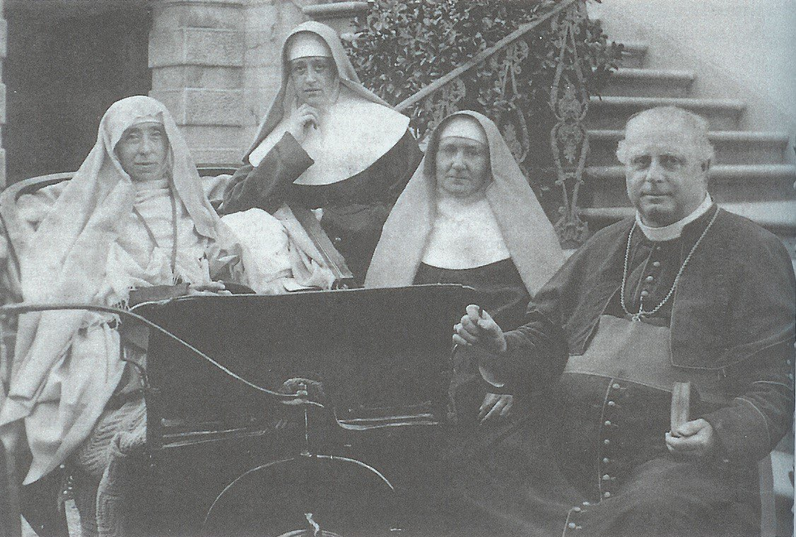 Ven Mary Potter, Sr Cecilia, Sr Philip and Bishop Bagshawe c.1903 Florence, Italy
