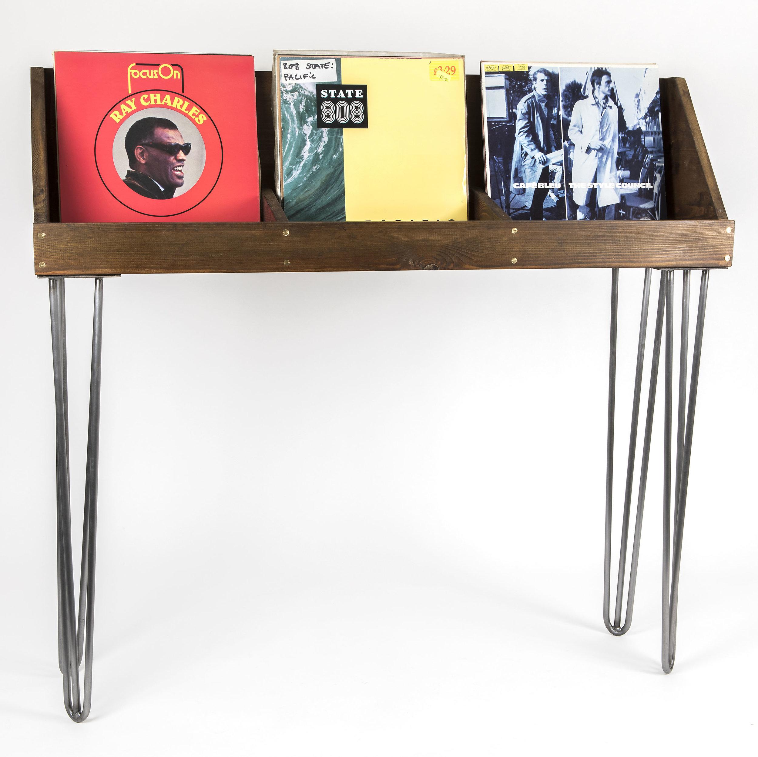Vinyl storage filled [front view]
