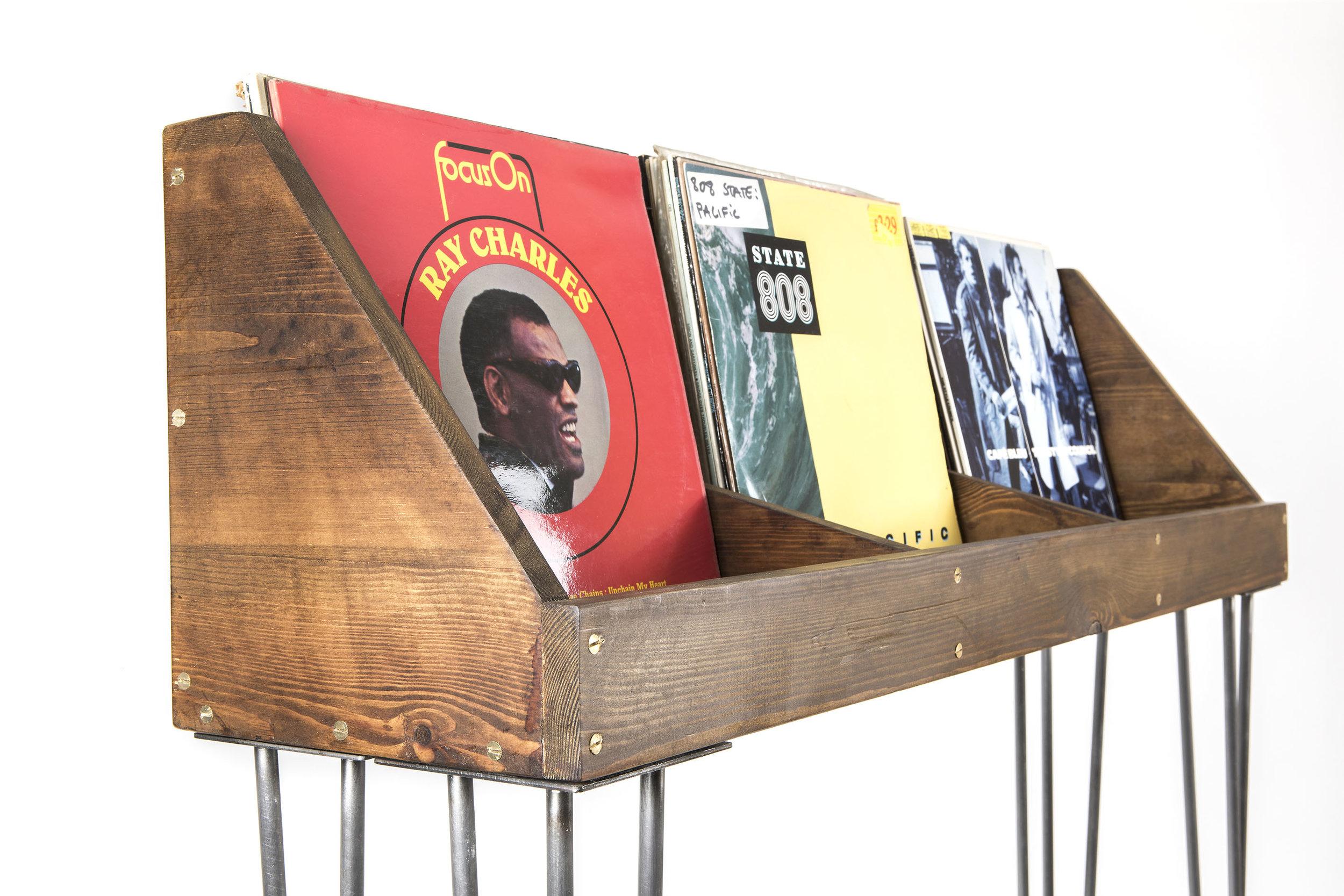 Vinyl storage side view