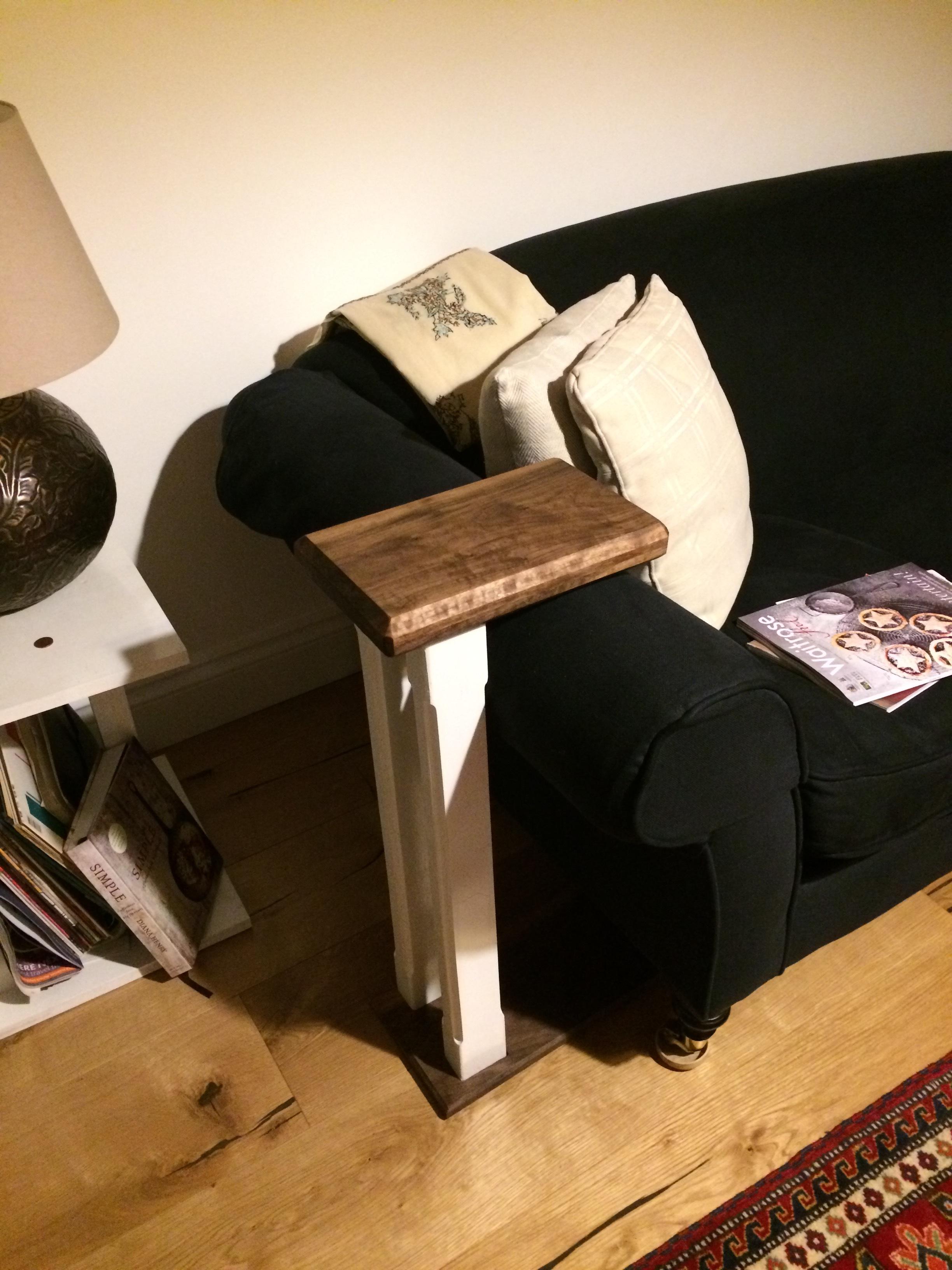 Sofa table in situ